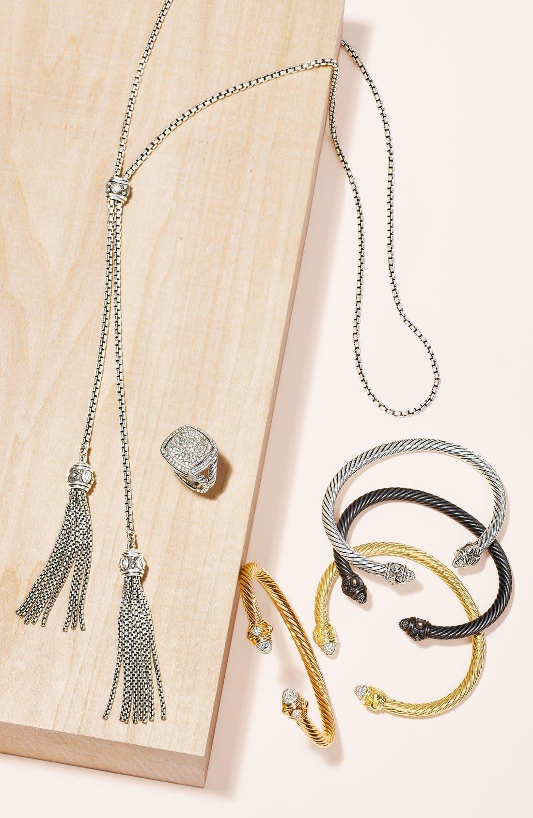 Renaissance Bracelet with Diamonds in Silver, 5mm,                             Alternate thumbnail 3, color,                             DIAMOND