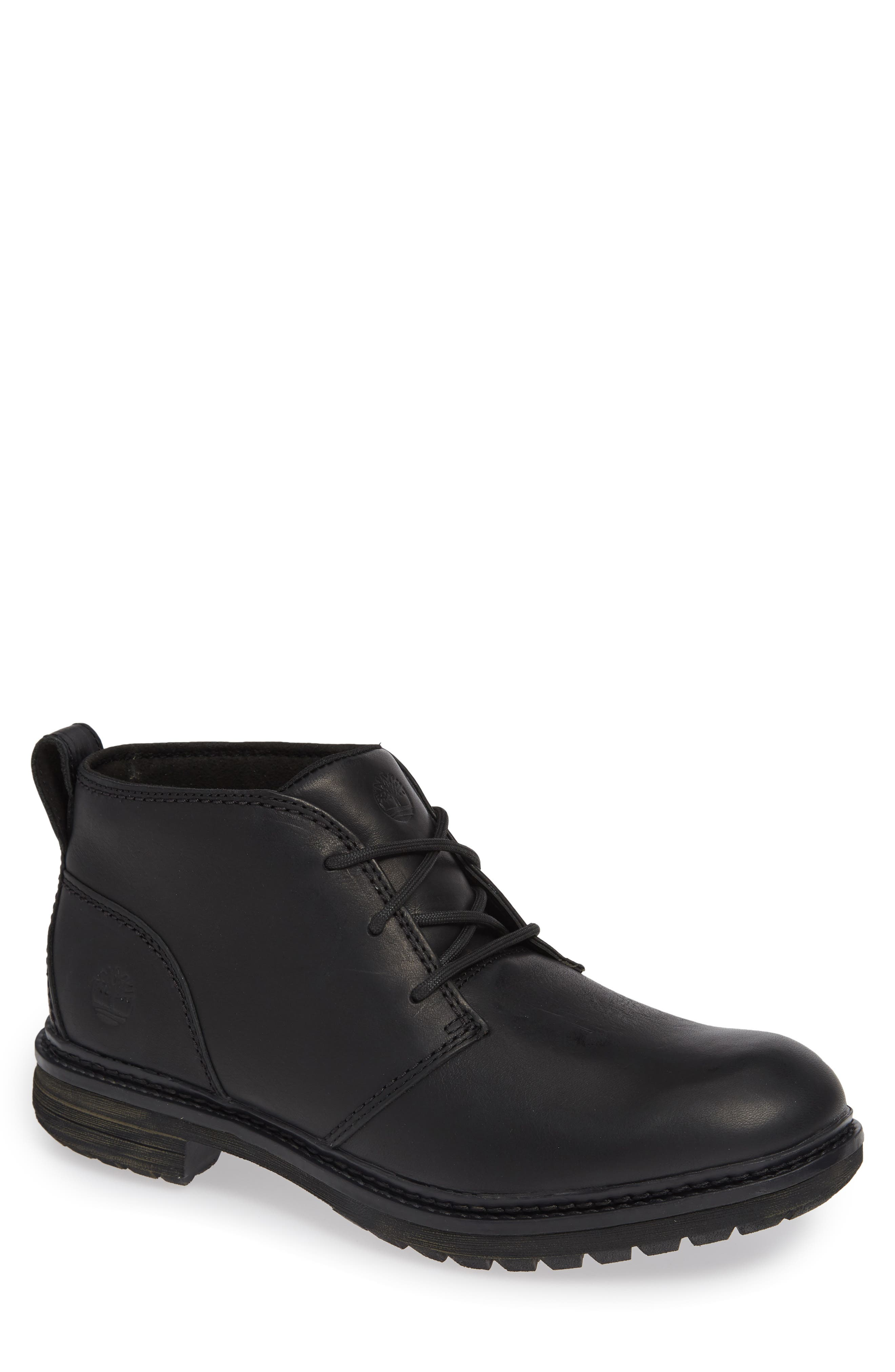 Logan Bay Water Resistant Chukka Boot,                         Main,                         color, BLACK LEATHER