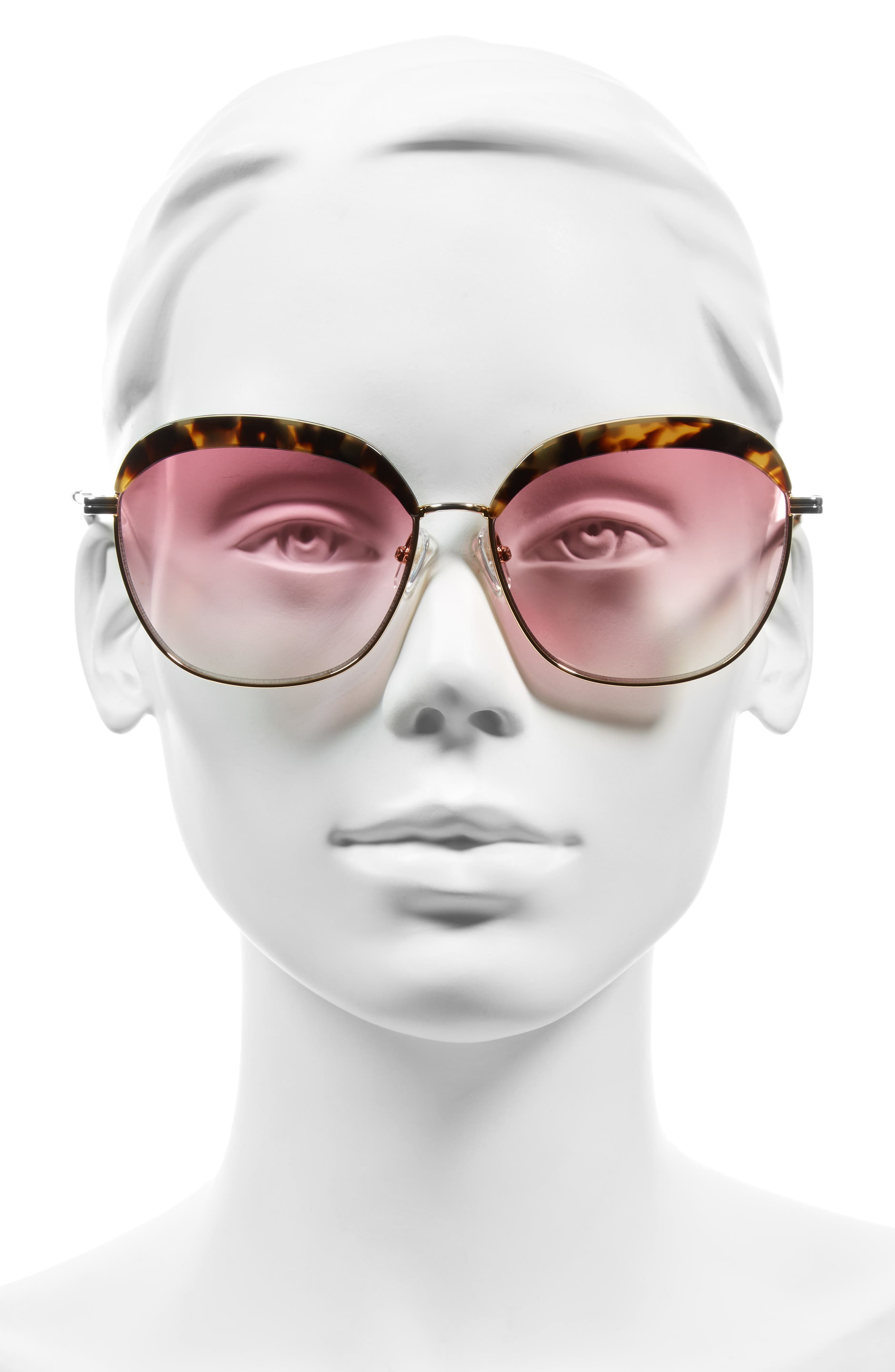Birdie 60mm Oversize Sunglasses,                             Alternate thumbnail 6, color,