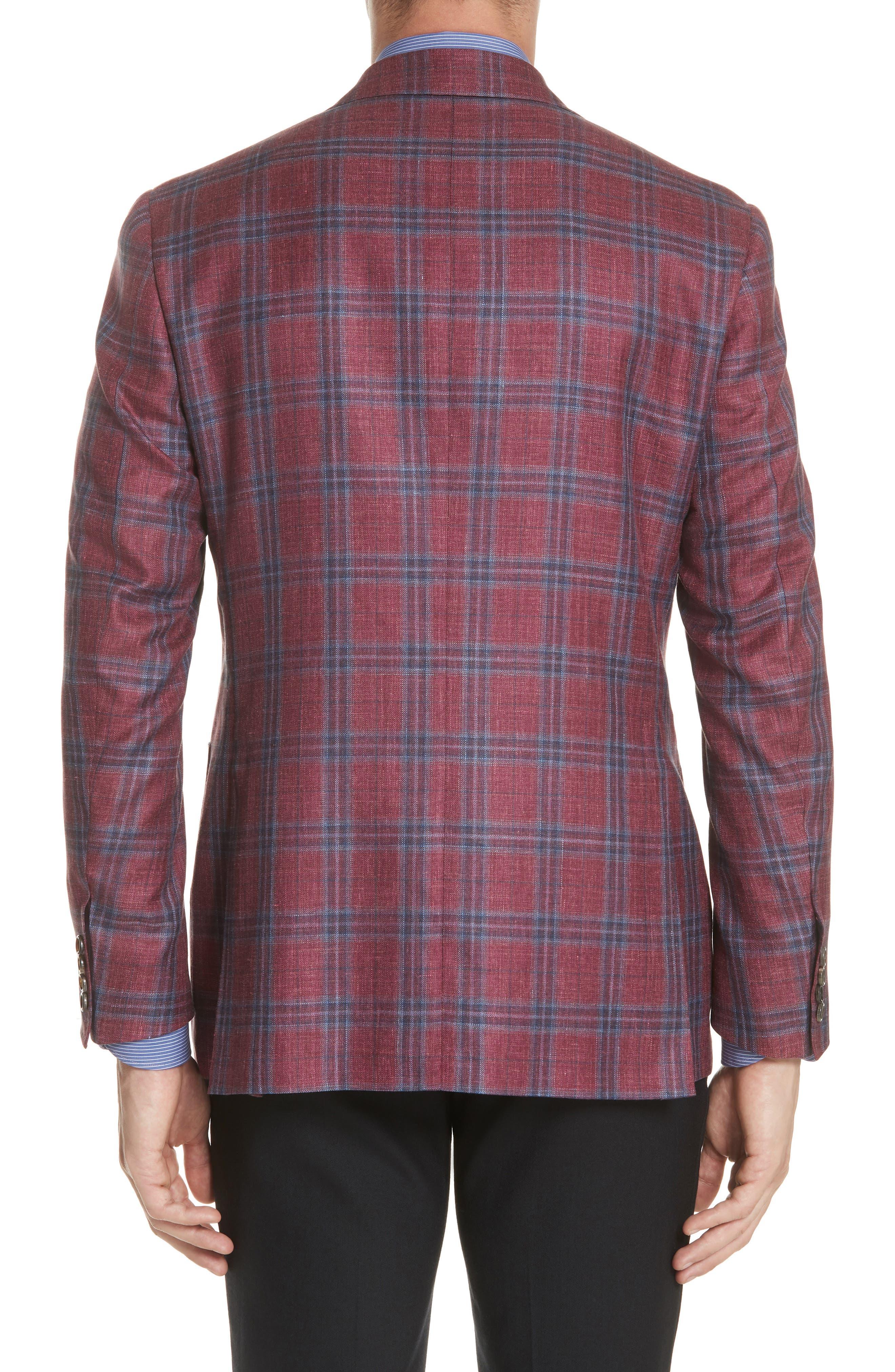Regular Fit Wool Blend Plaid Sport Coat,                             Alternate thumbnail 2, color,