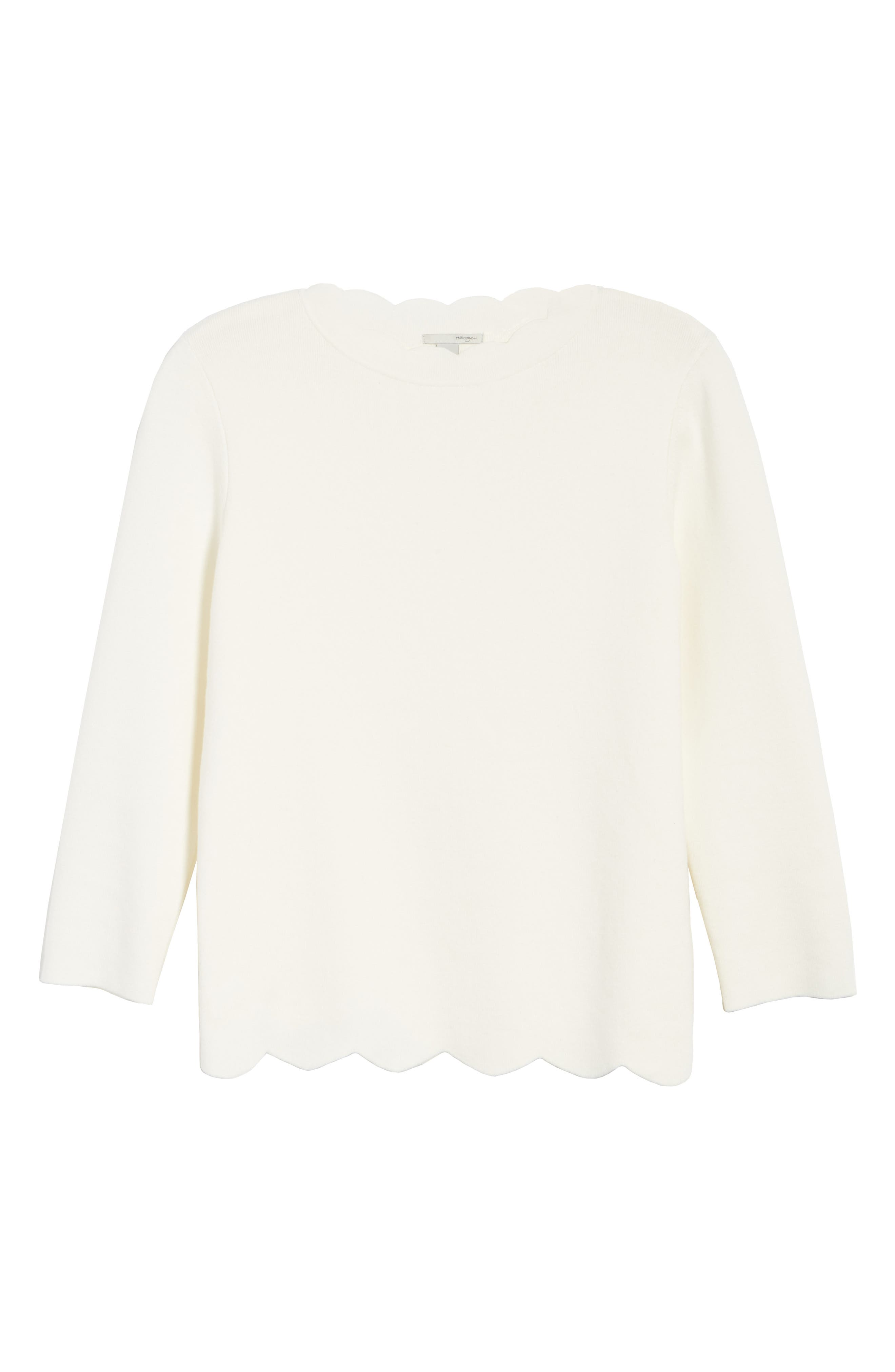 Halogen Scallop Edge Sweater,                             Alternate thumbnail 66, color,