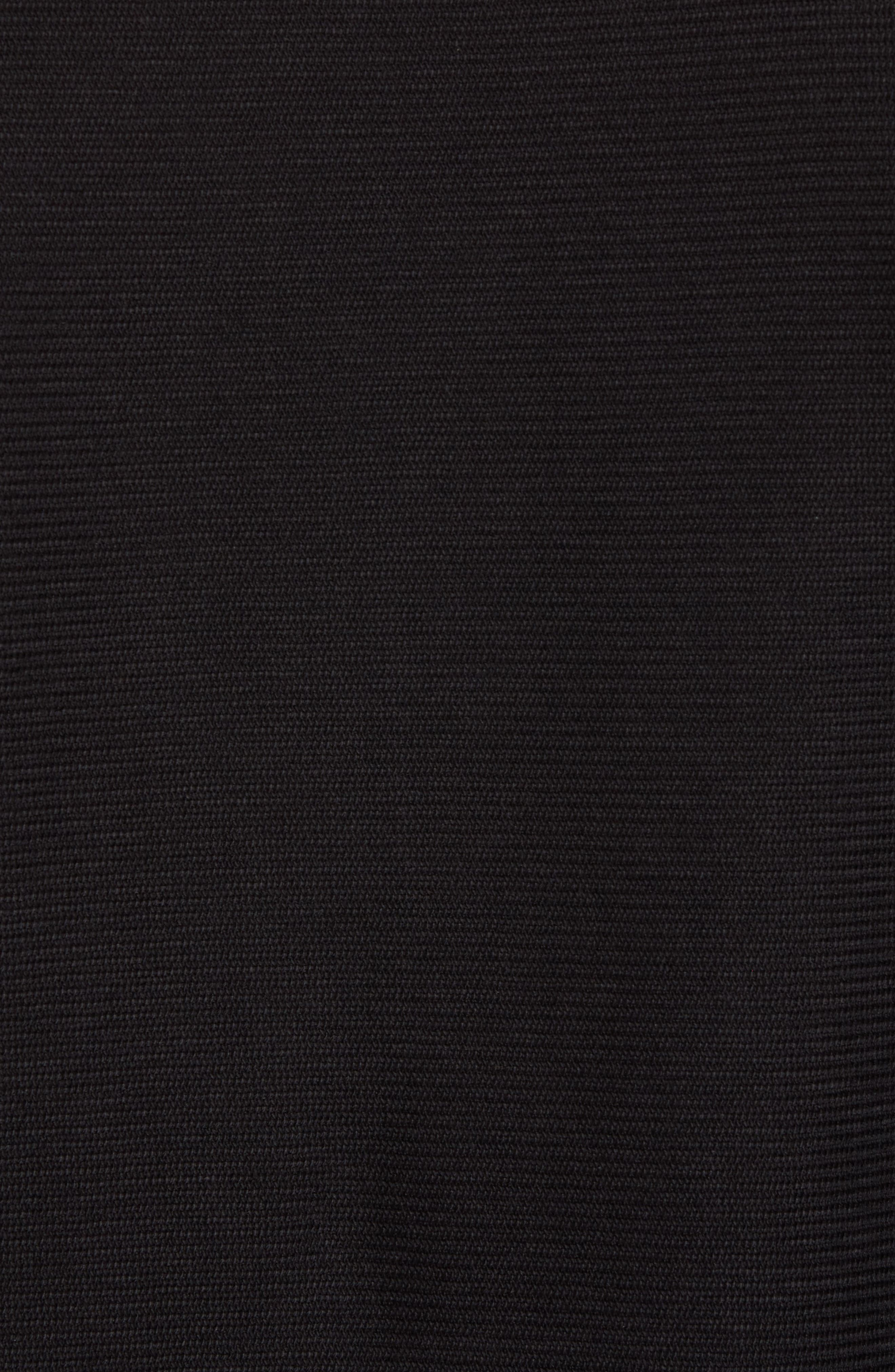 Side Zip Thermal Sweatshirt,                             Alternate thumbnail 5, color,                             001