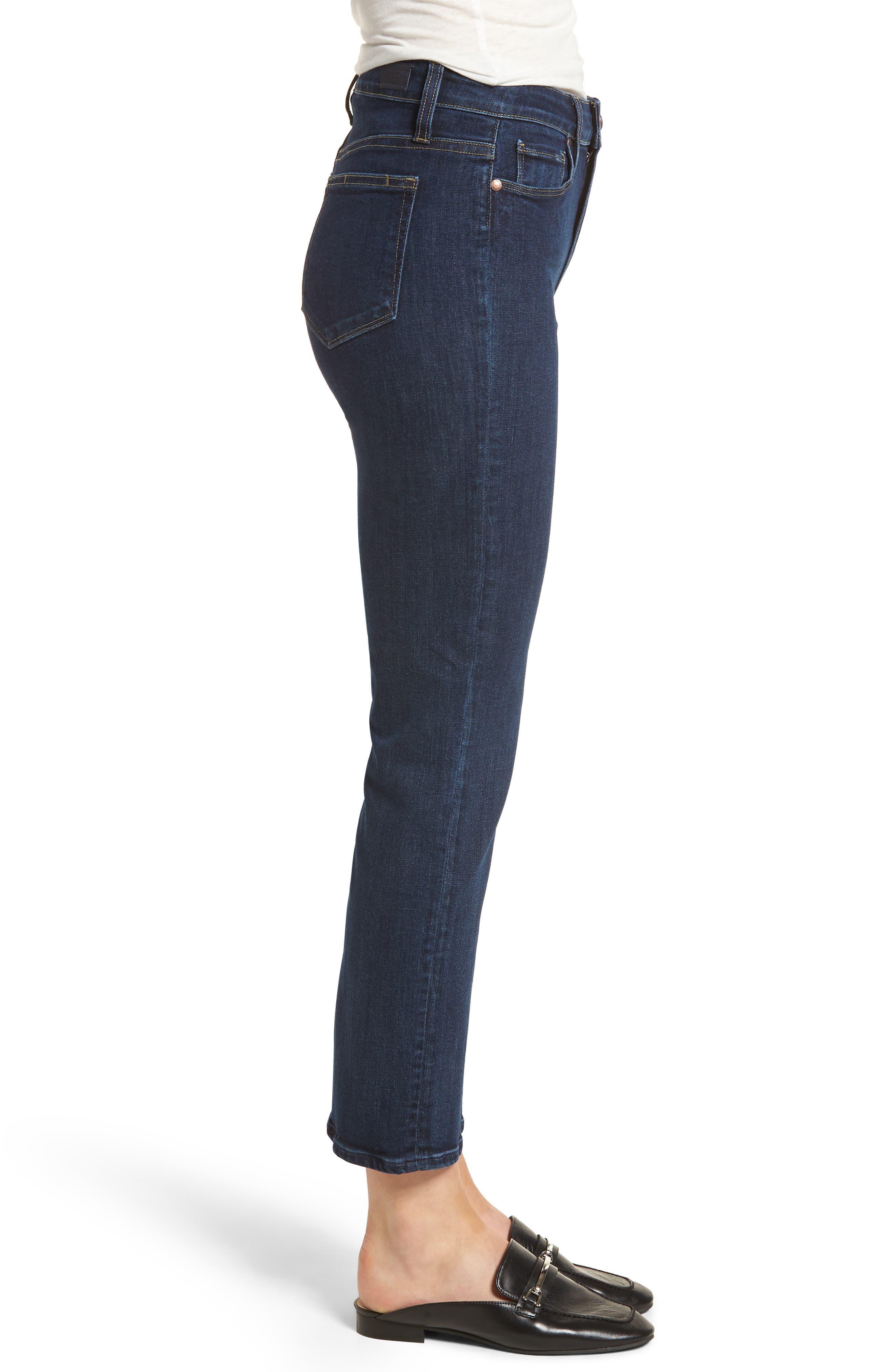 Margot High Waist Ankle Straight Leg Jeans,                             Alternate thumbnail 3, color,                             400
