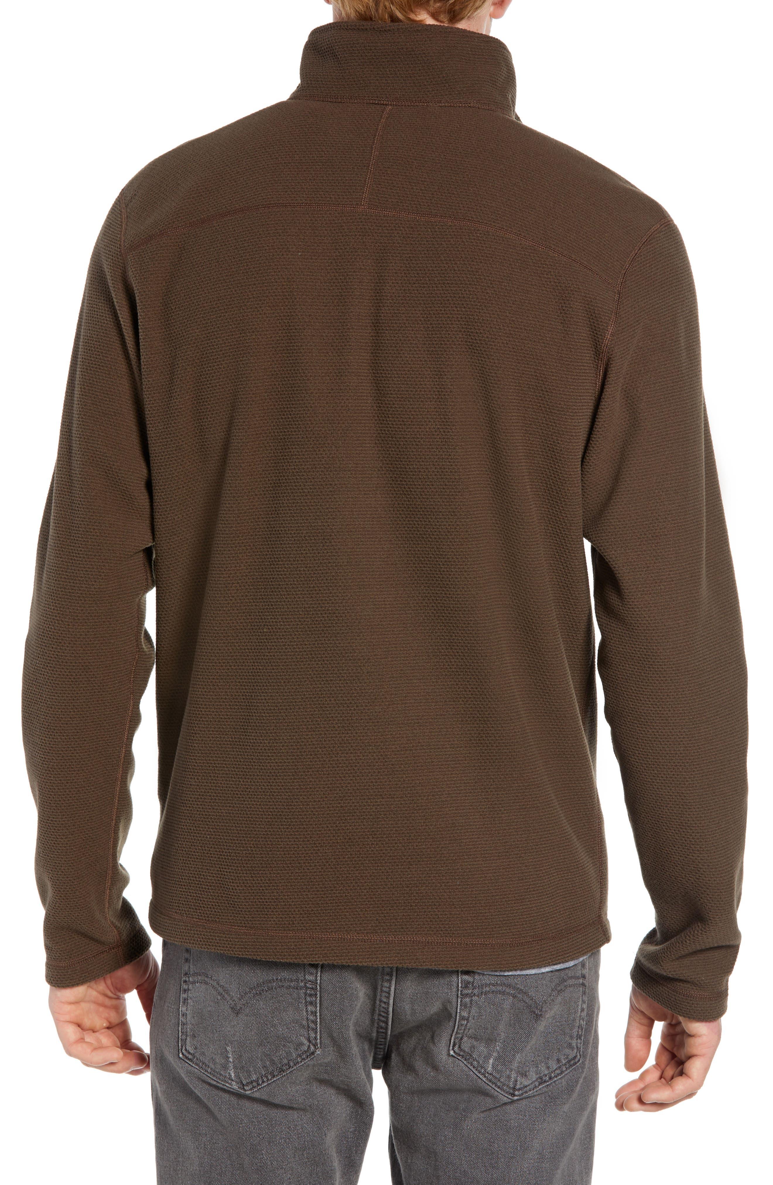 Texture Cap Rock Quarter Zip Fleece Jacket,                             Alternate thumbnail 2, color,                             BRACKEN BROWN