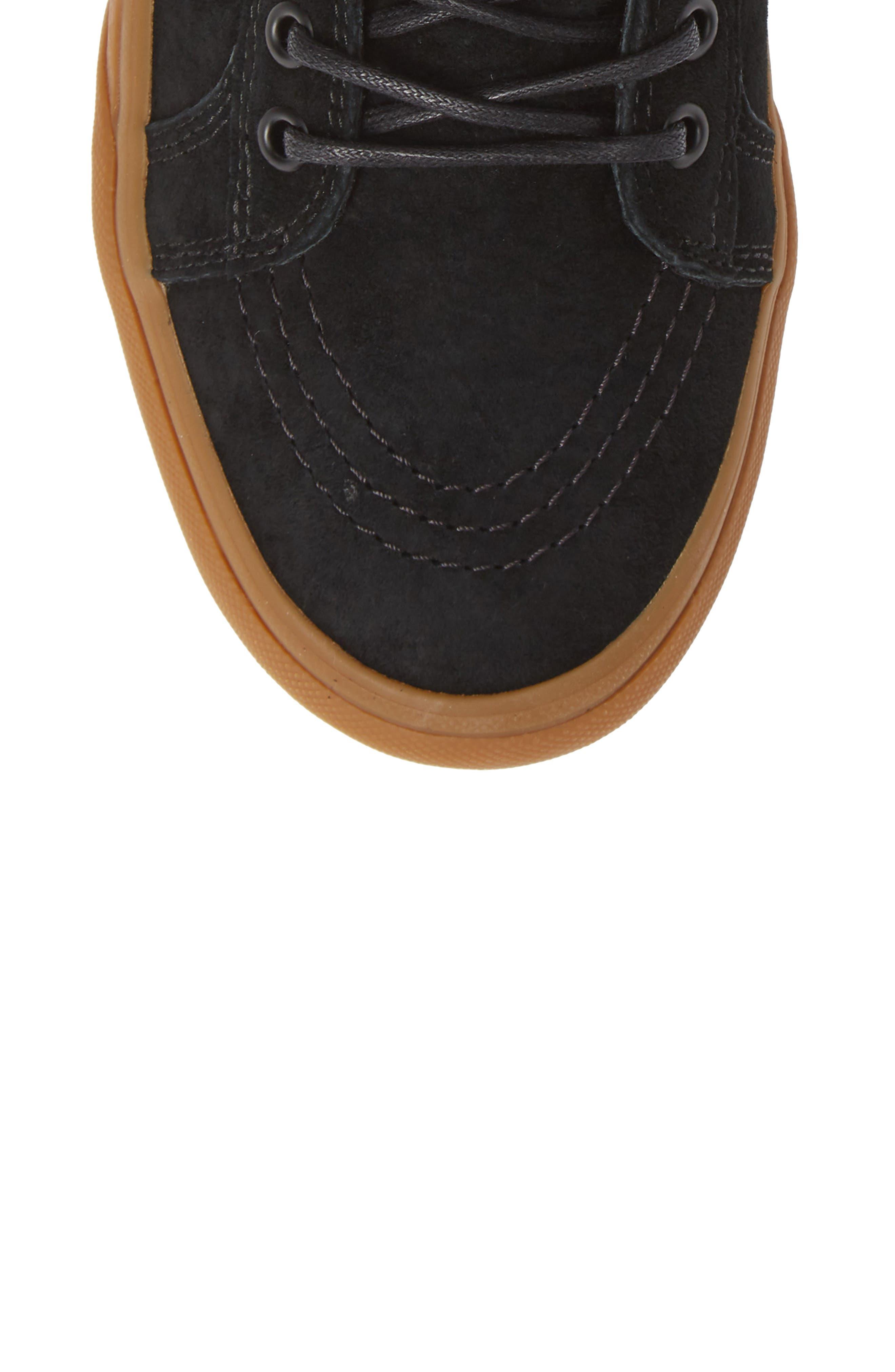 'Sk8-Hi MTE' Sneaker,                             Alternate thumbnail 5, color,                             BLACK/ GUM