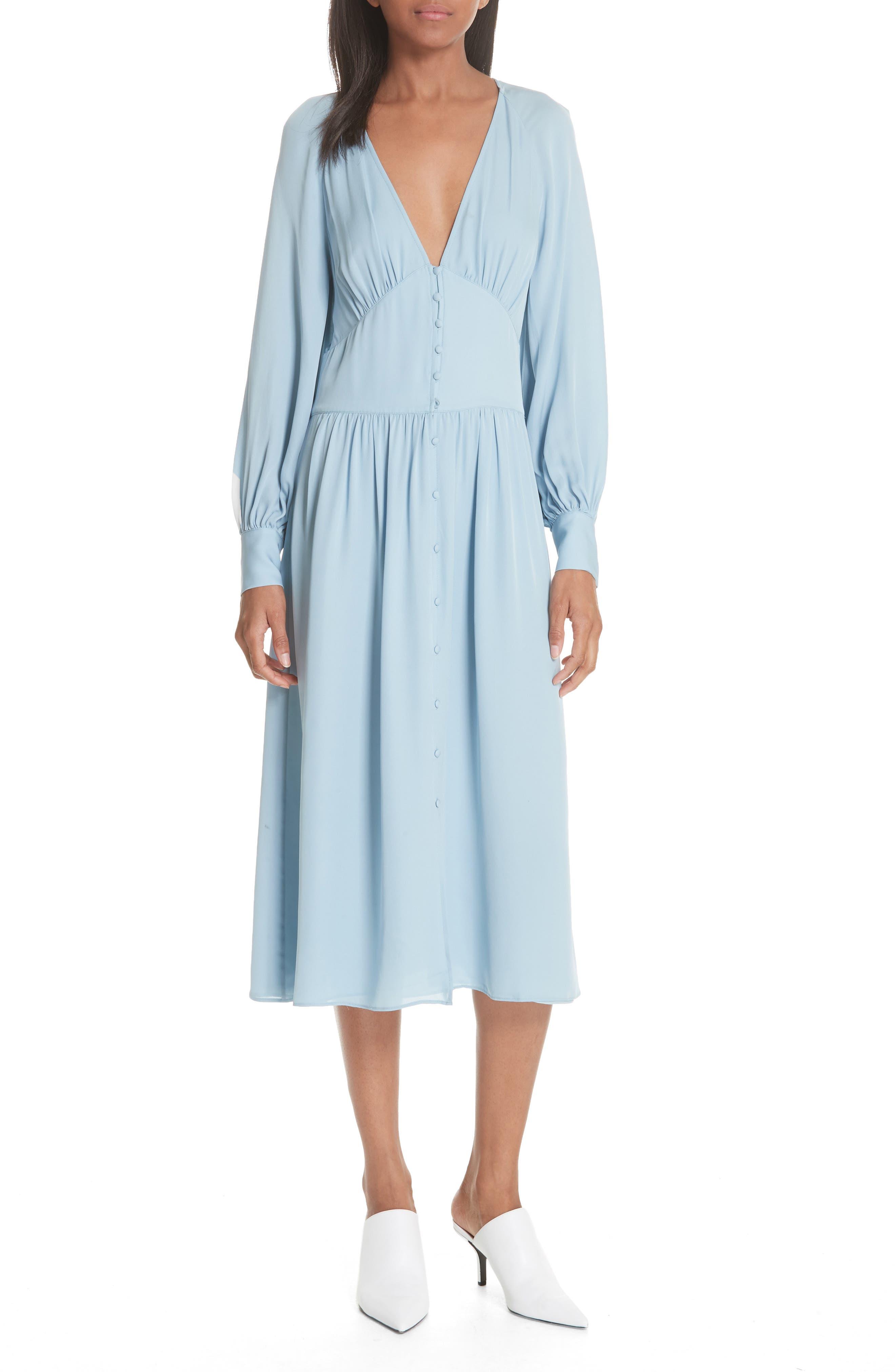 Kyria Silk Midi Dress,                             Main thumbnail 1, color,                             400