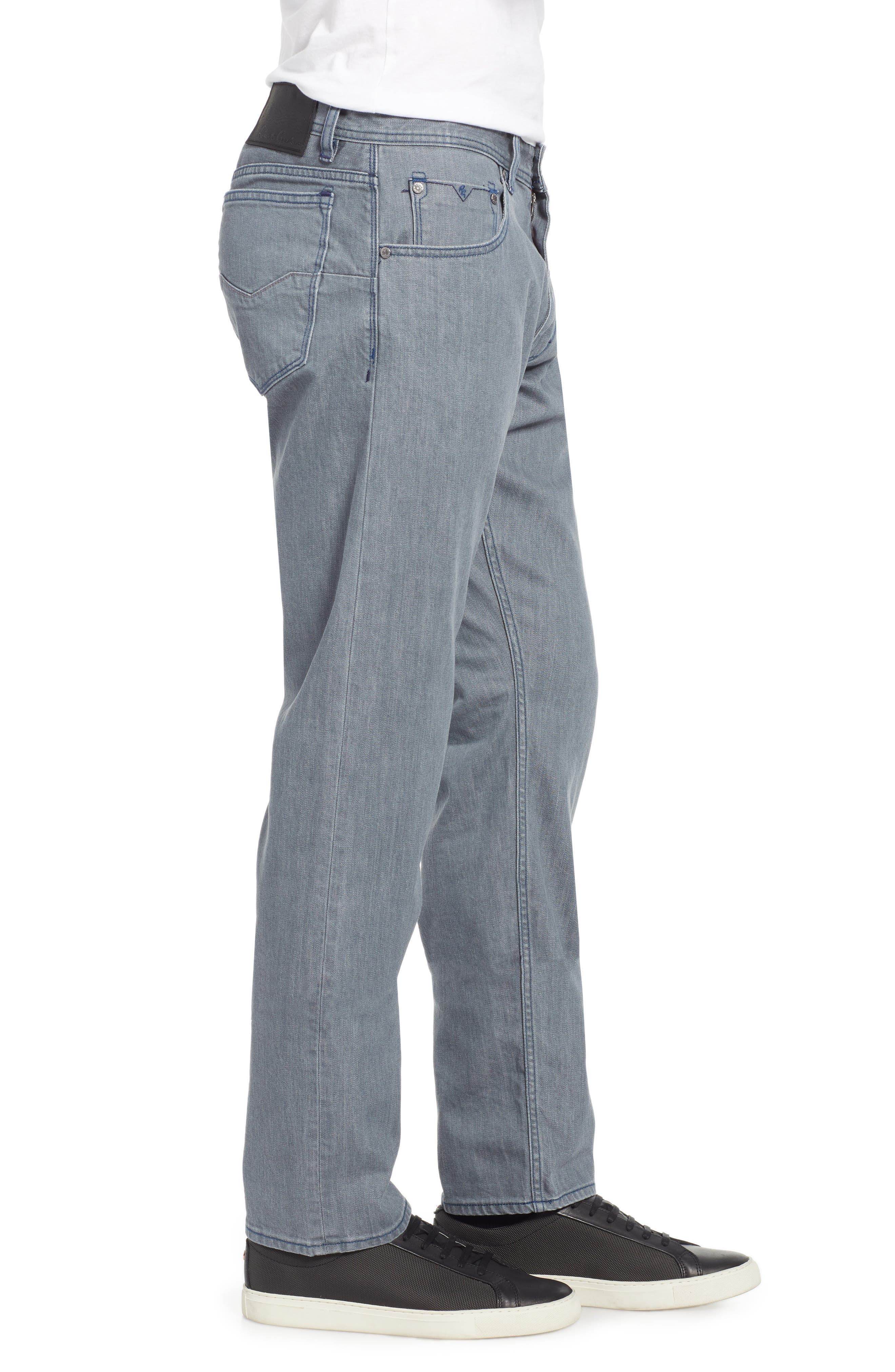 Bray Tailored Straight Leg Jeans,                             Alternate thumbnail 3, color,                             GREY