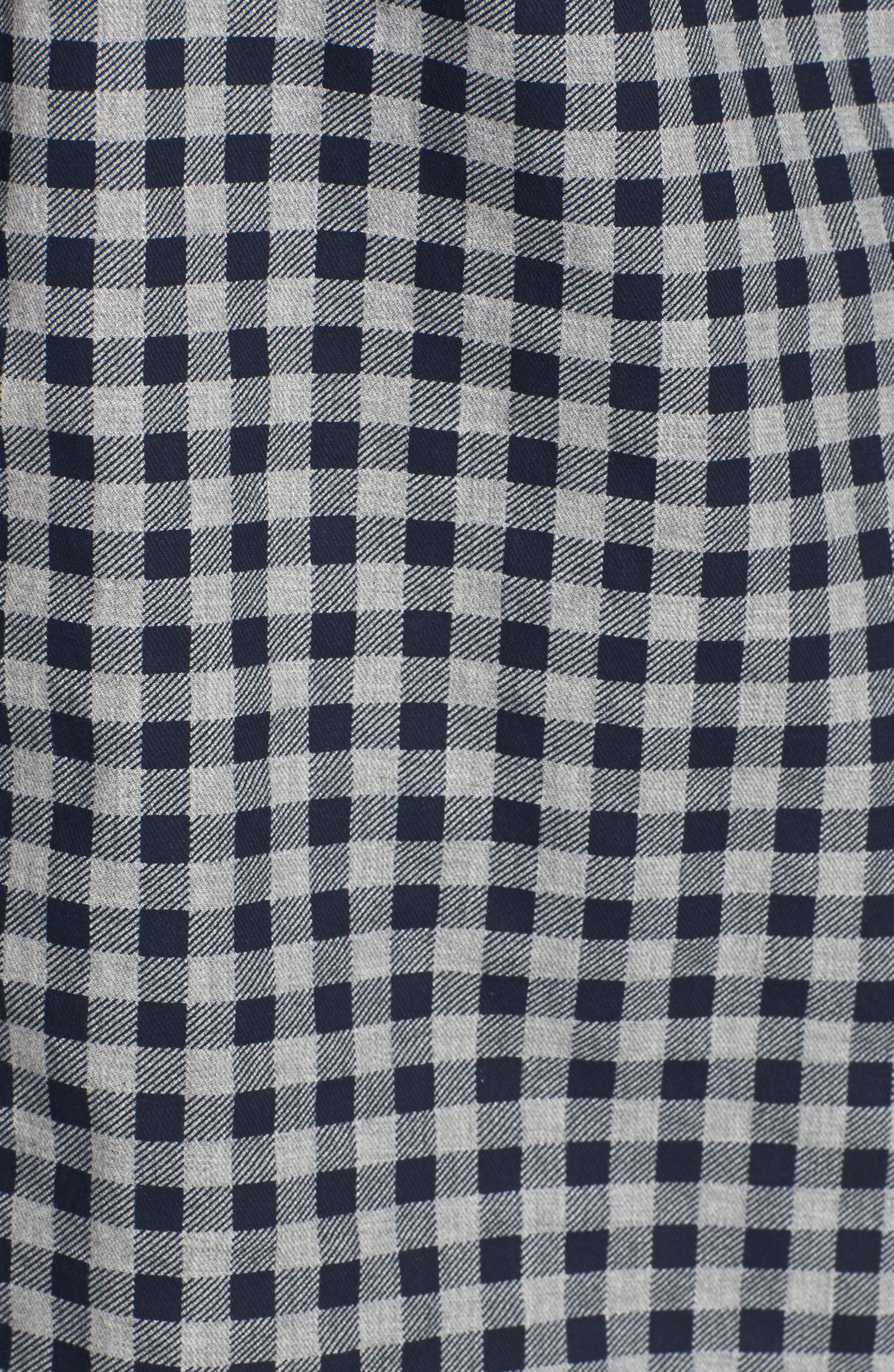 Lance Regular Fit Gingham Sport Shirt,                             Alternate thumbnail 5, color,                             410