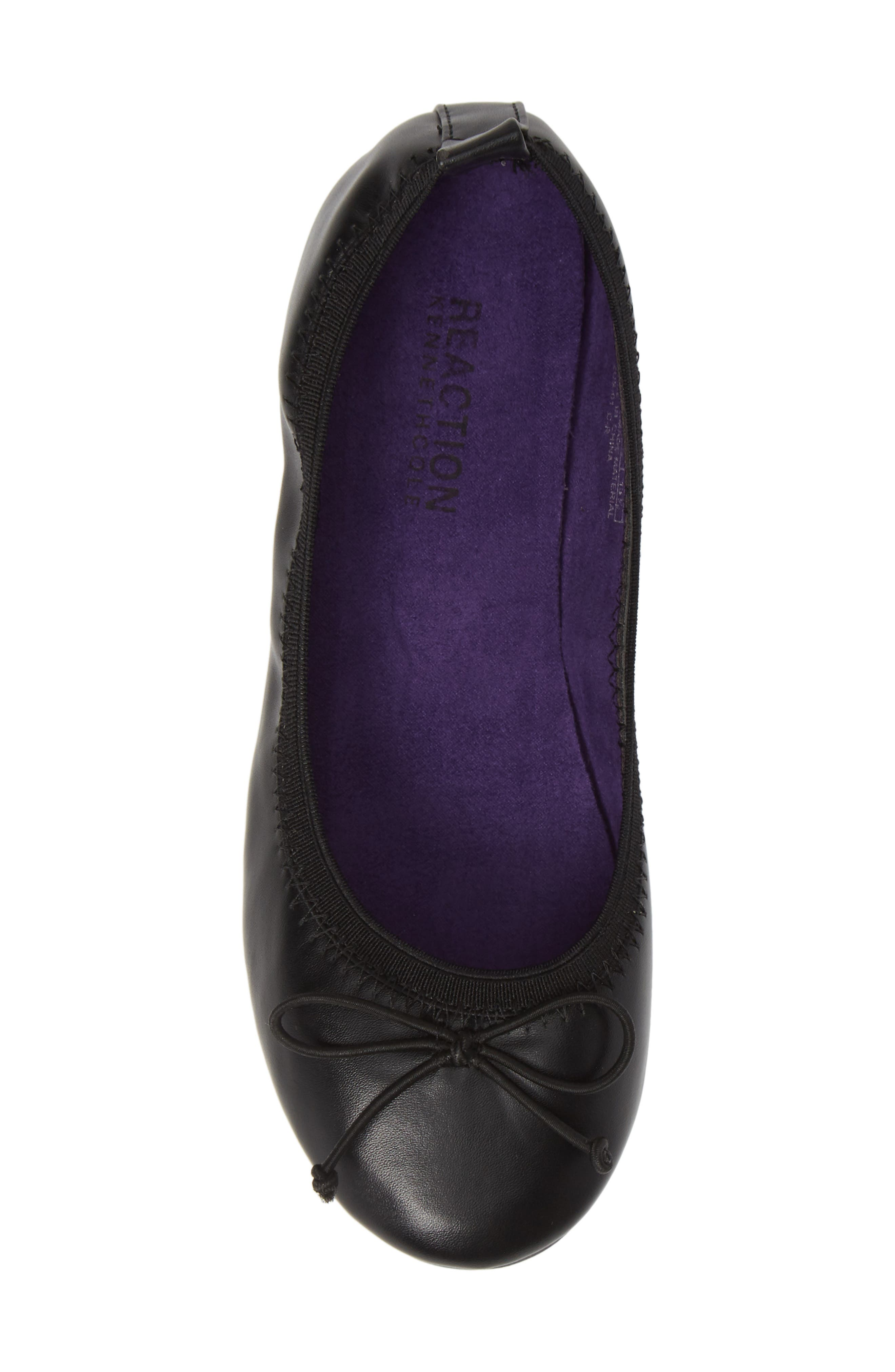 Copy Tap Ballet Flat,                             Alternate thumbnail 5, color,                             BLACK