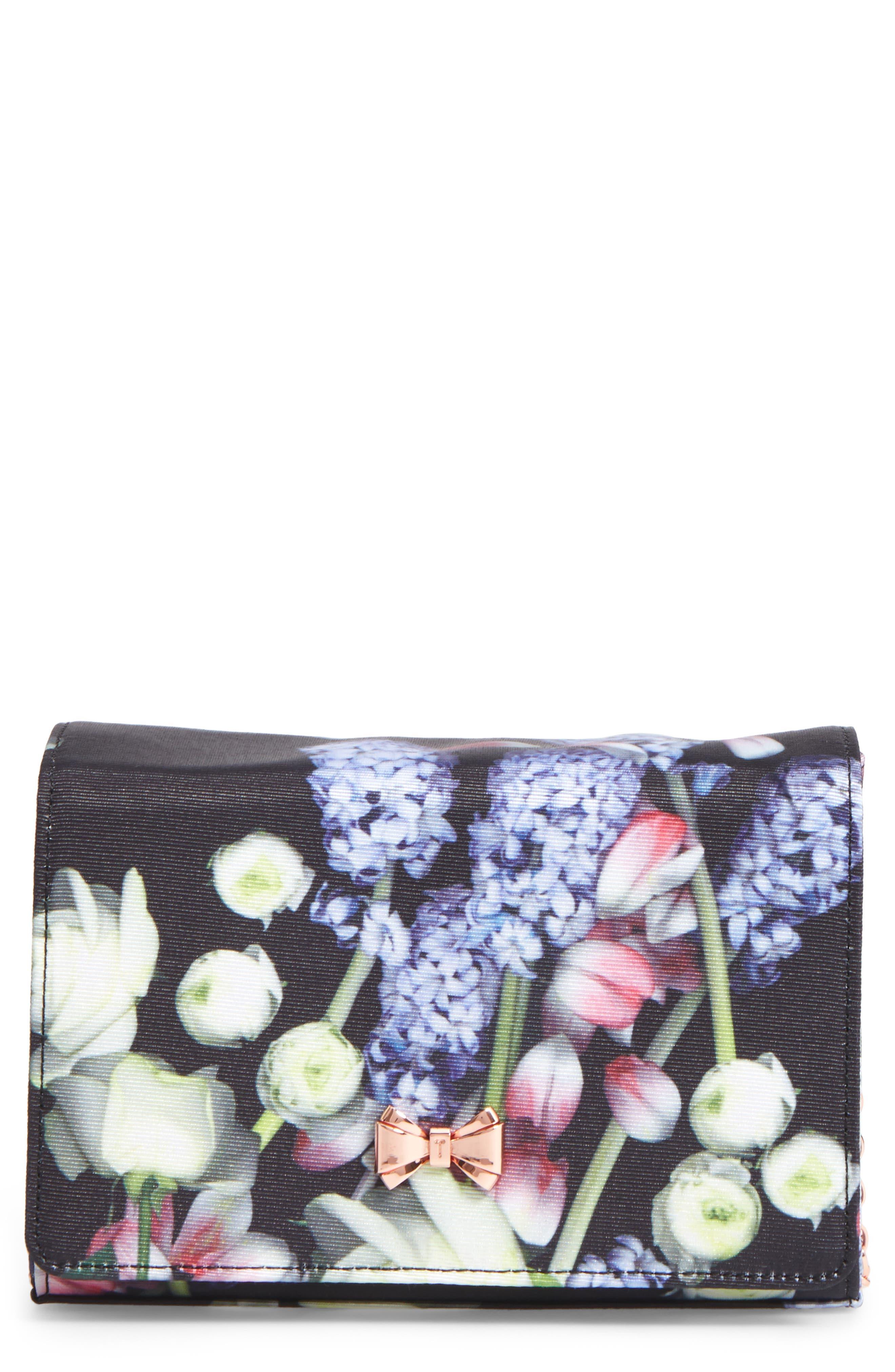 Jenniee Kensington Floral Bow Clutch,                             Main thumbnail 1, color,                             001