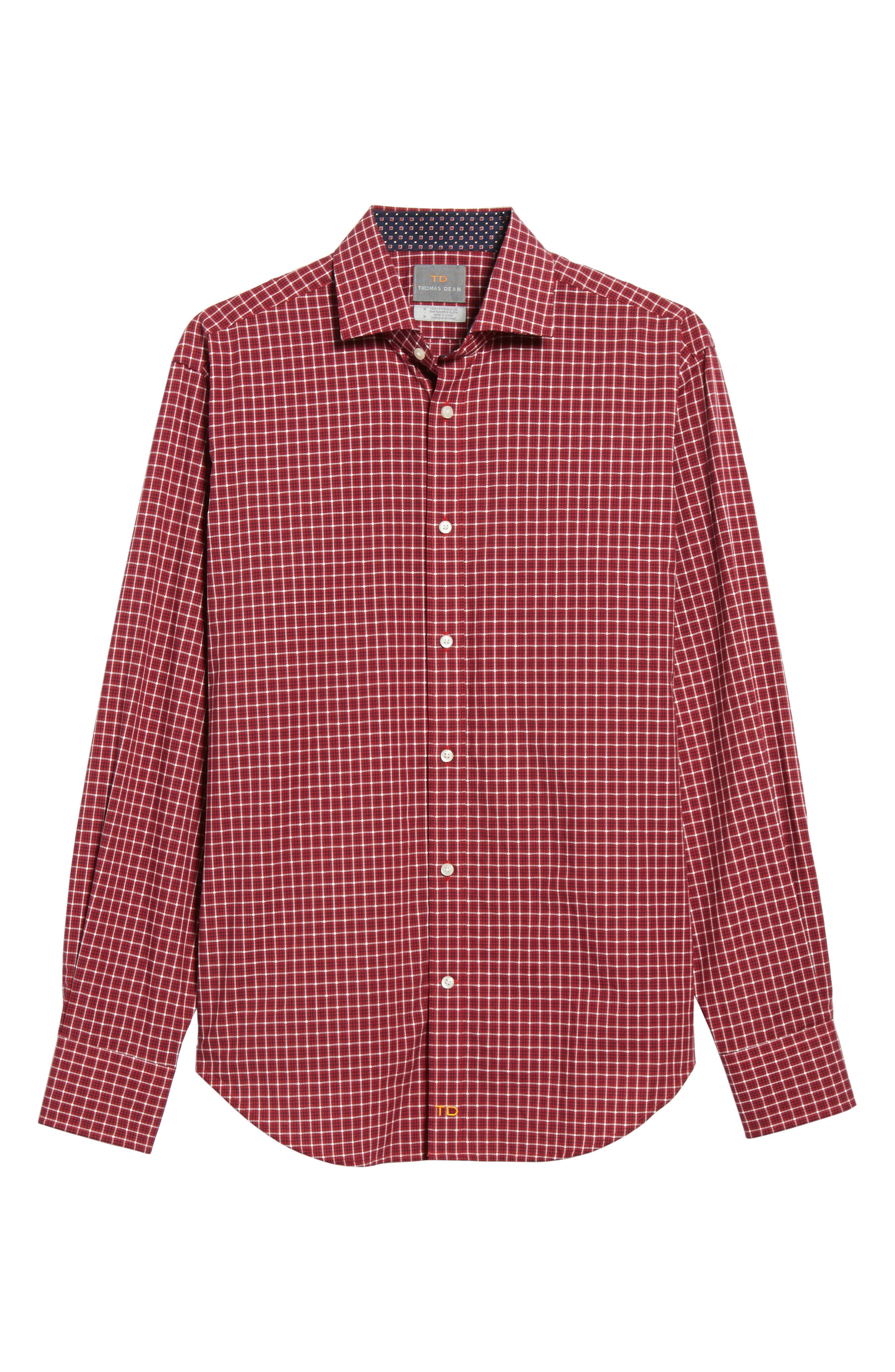 Regular Fit Plaid Sport Shirt,                             Alternate thumbnail 6, color,                             600