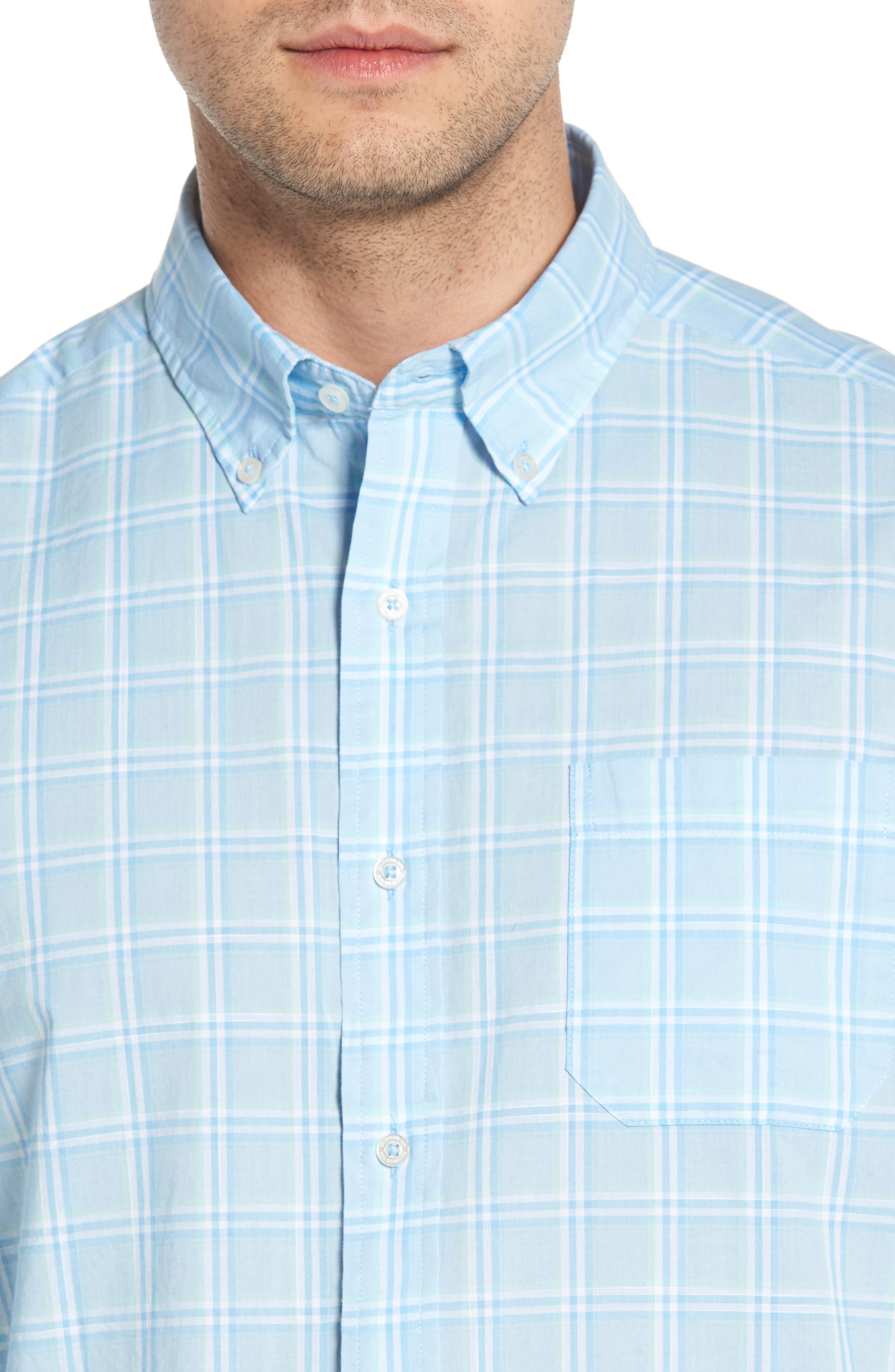 Roadstead Regular Fit Plaid Sport Shirt,                             Alternate thumbnail 4, color,                             450