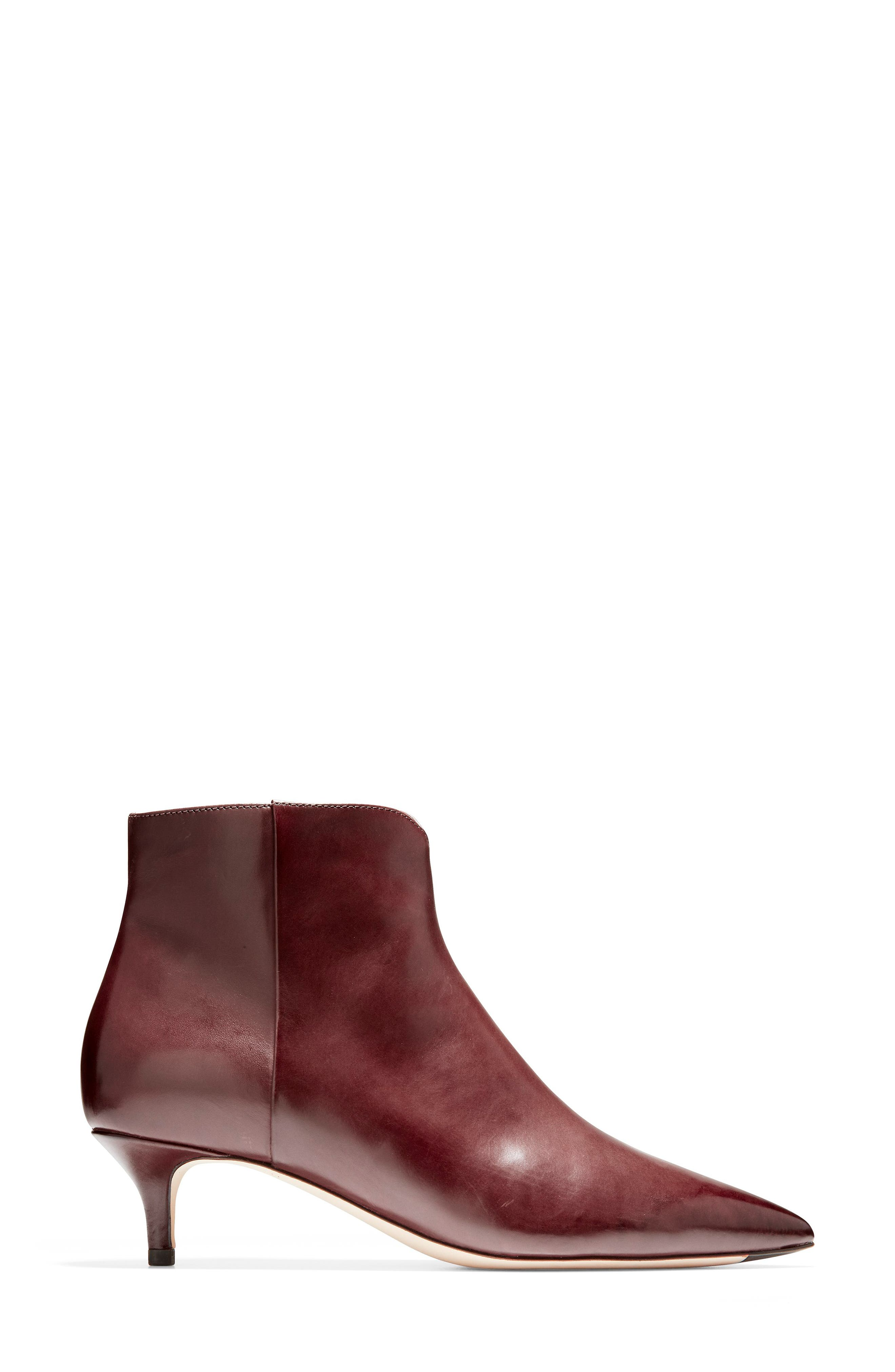 Vesta Bootie,                             Alternate thumbnail 3, color,                             CORDOVAN LEATHER
