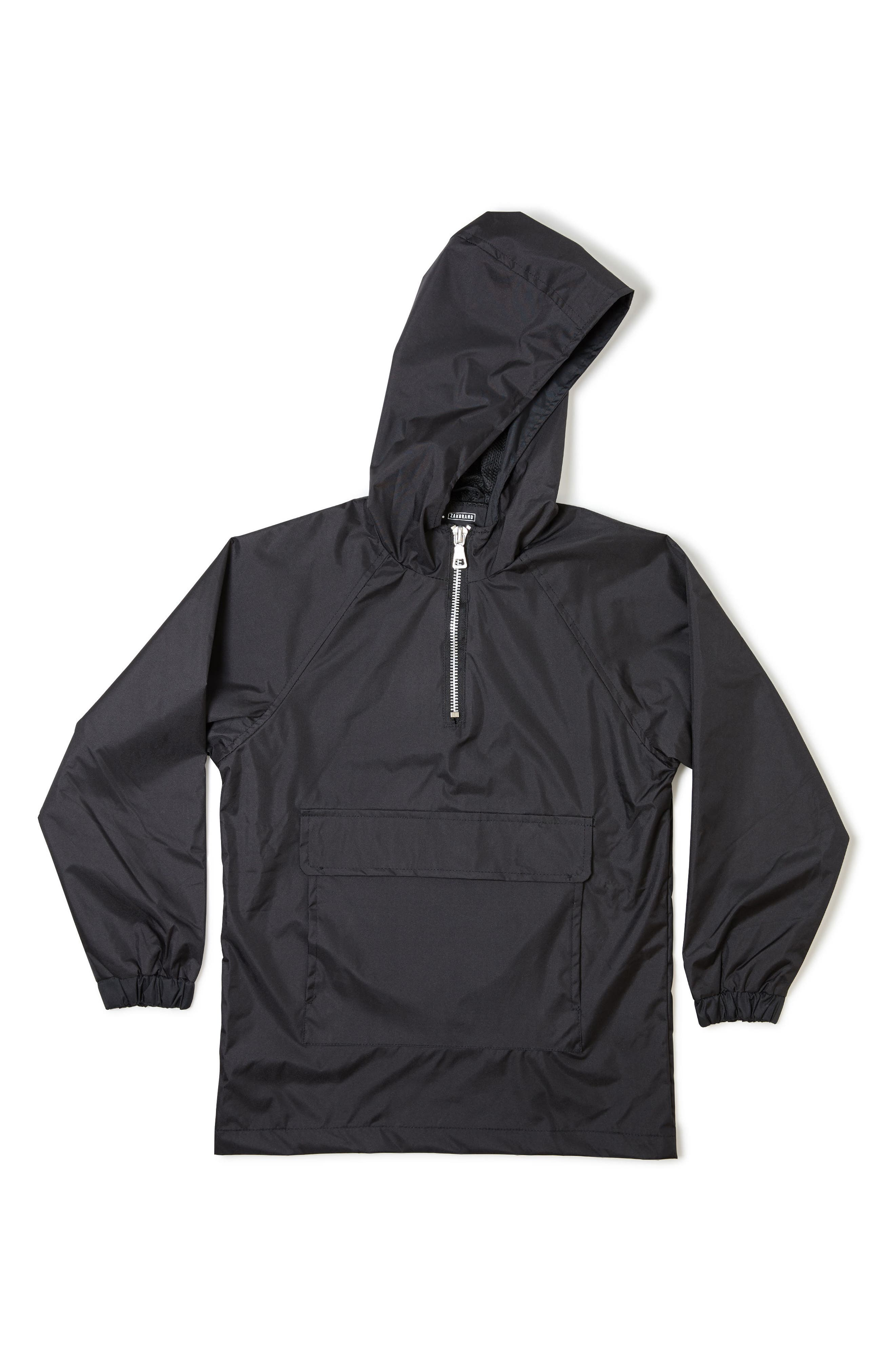 Hooded Windbreaker,                         Main,                         color, 001