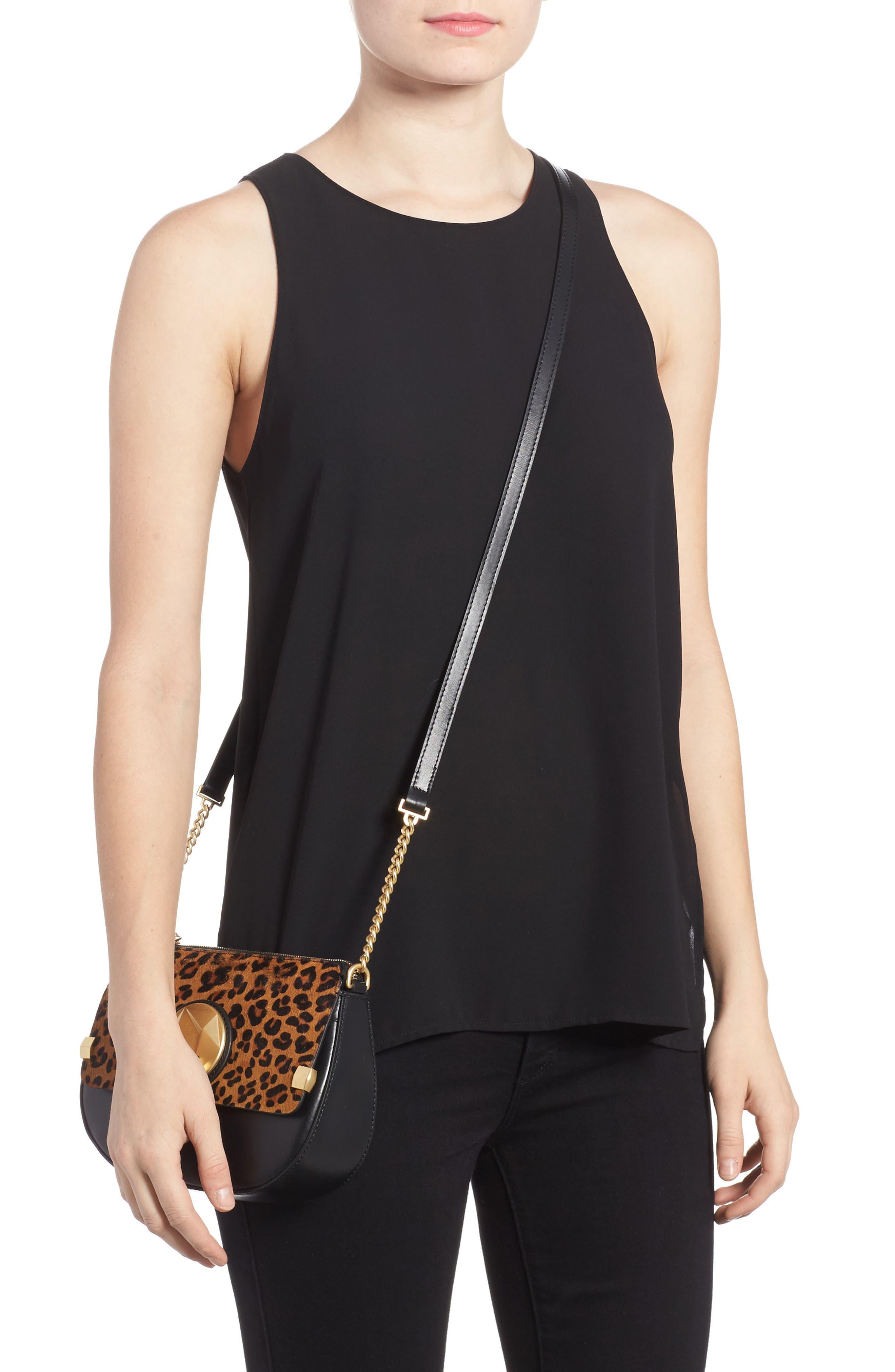 Céline Dion Octave Leather Crossbody Bag,                             Alternate thumbnail 2, color,