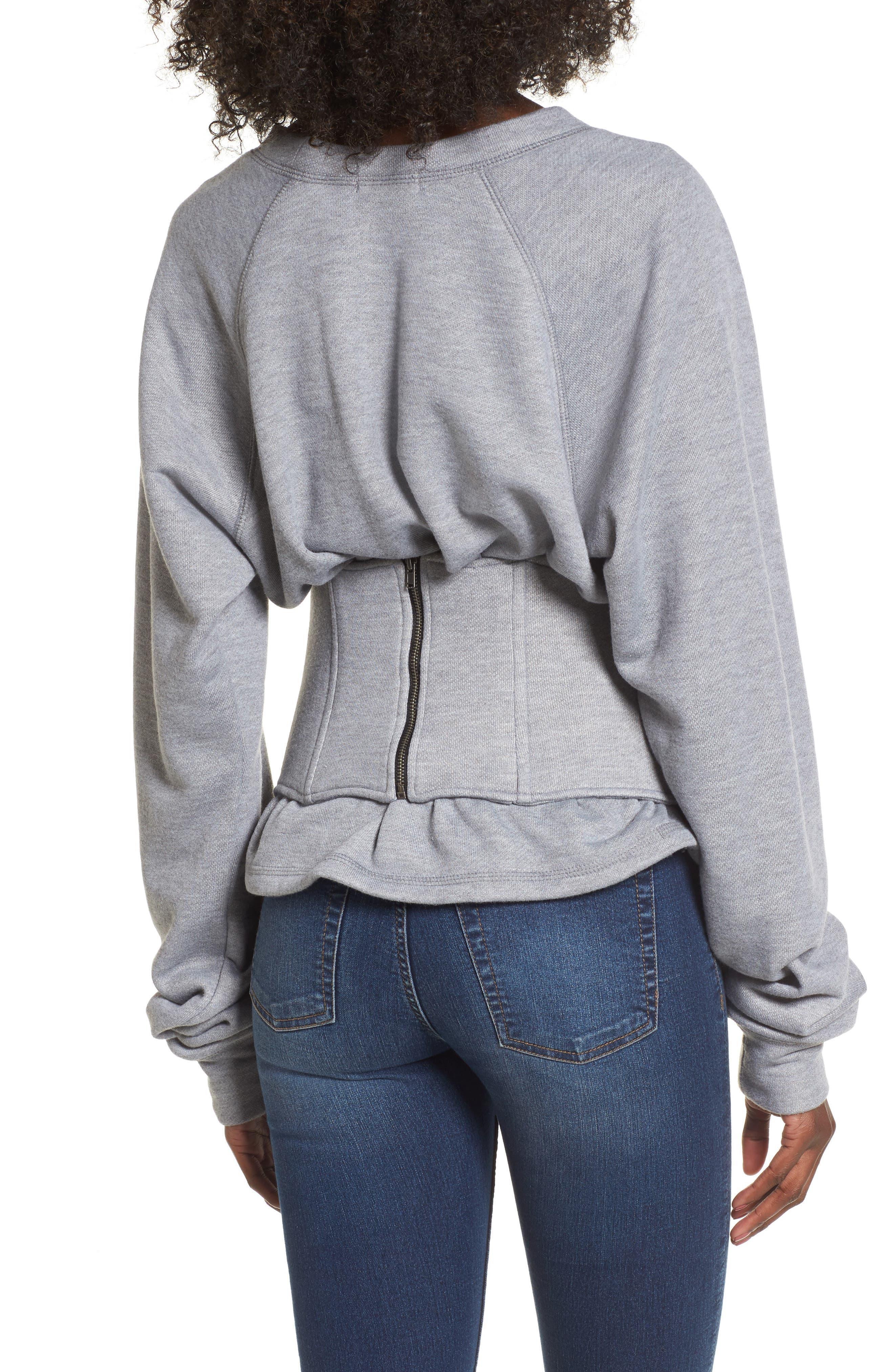 Mason Corset Sweatshirt,                             Alternate thumbnail 2, color,                             020