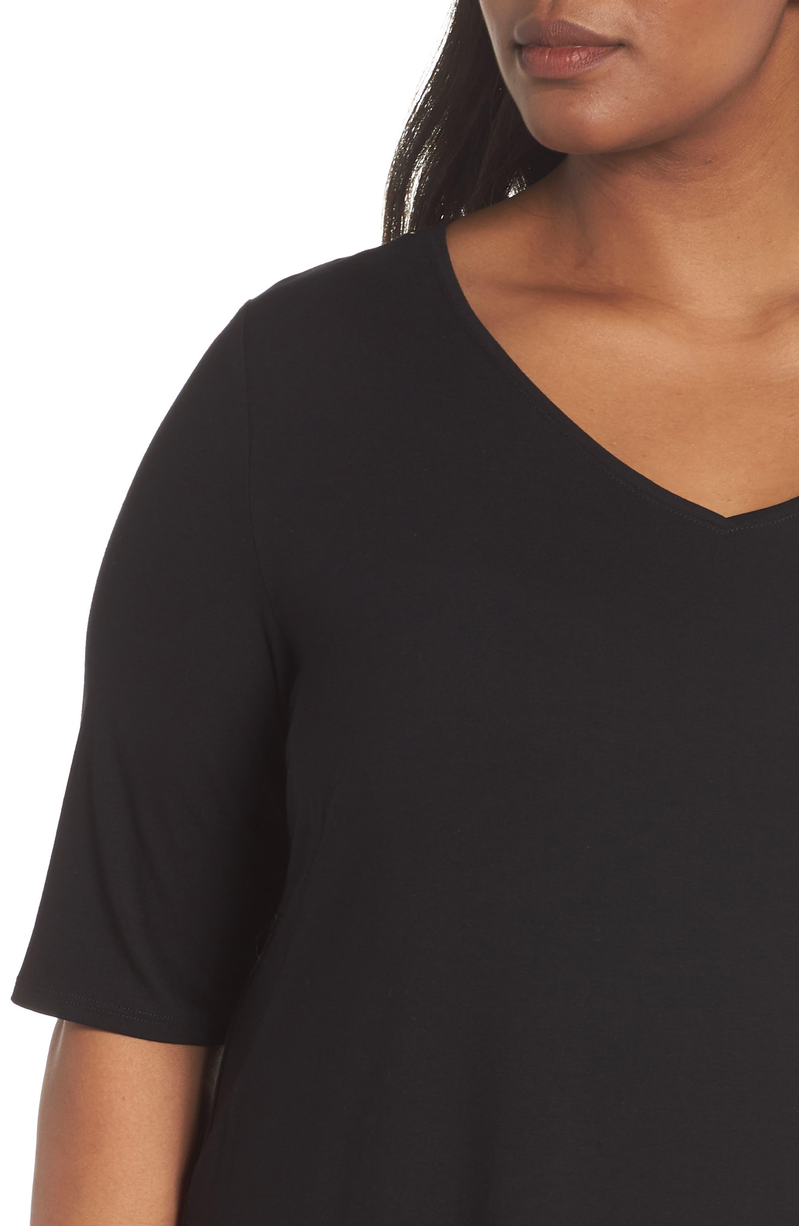 V-Neck Stretch Jersey Shift Dress,                             Alternate thumbnail 17, color,