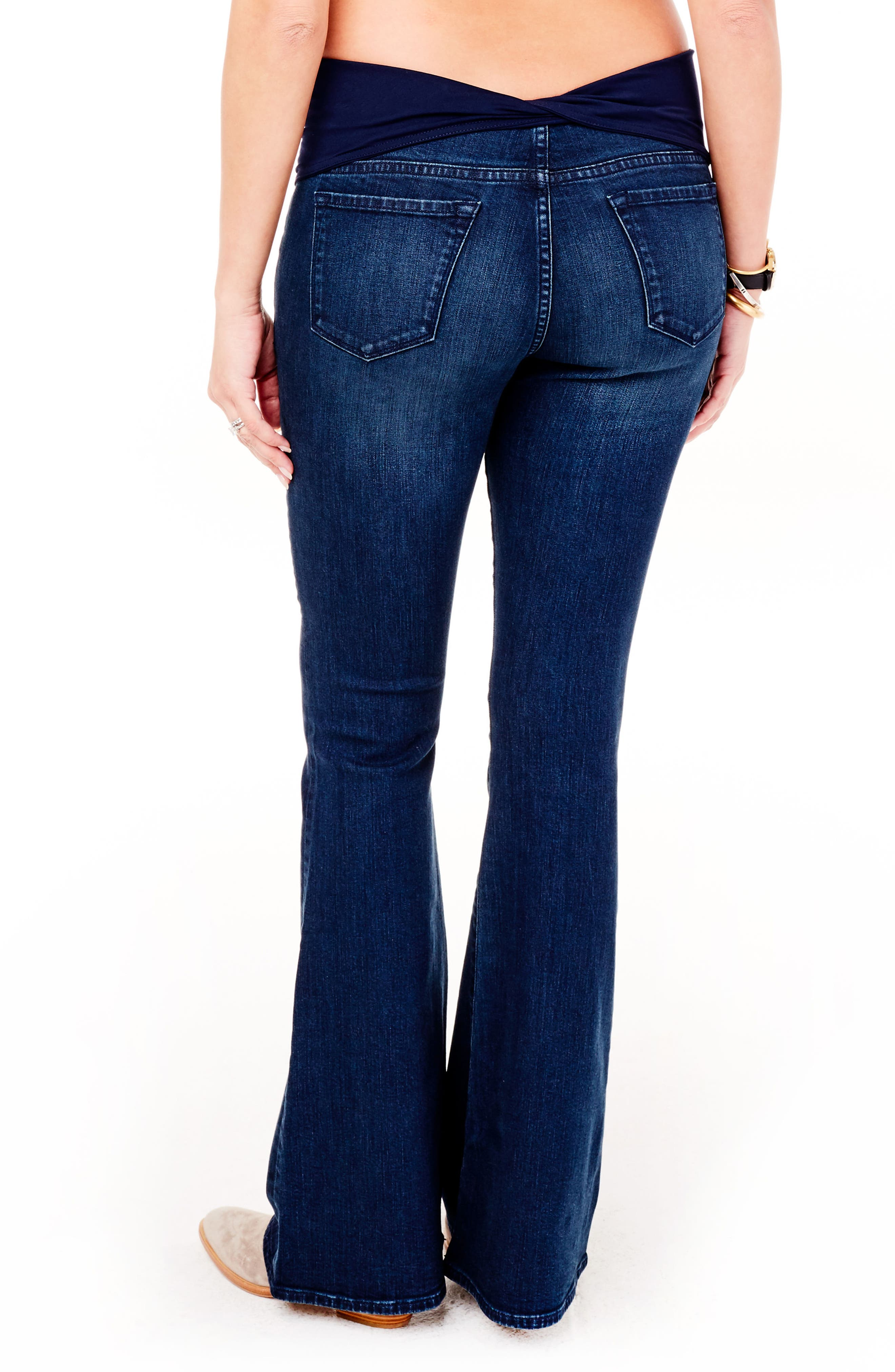 Gracie Flare Maternity Jeans,                             Alternate thumbnail 2, color,