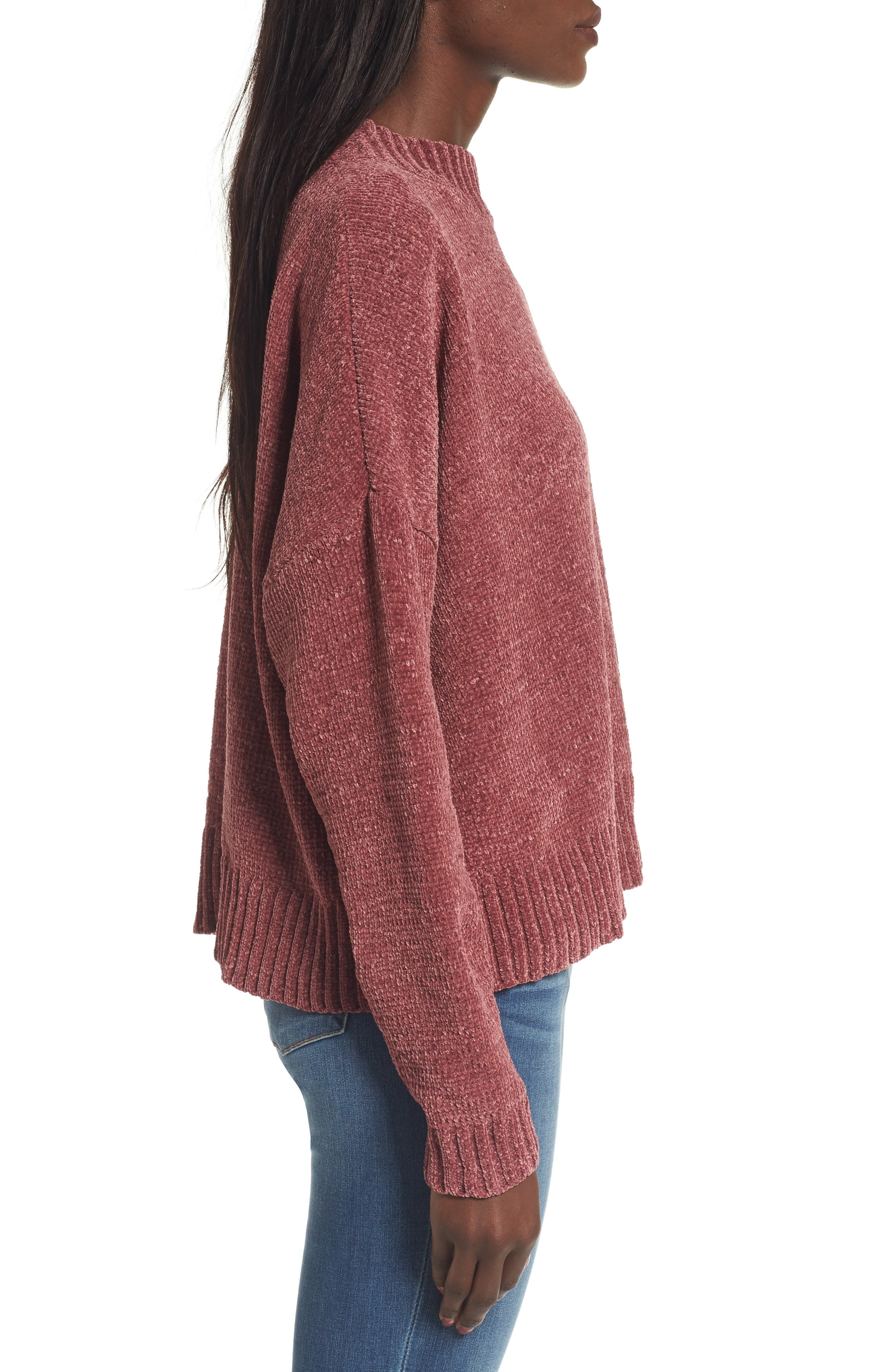 Chenille Funnel Neck Sweater,                             Alternate thumbnail 15, color,