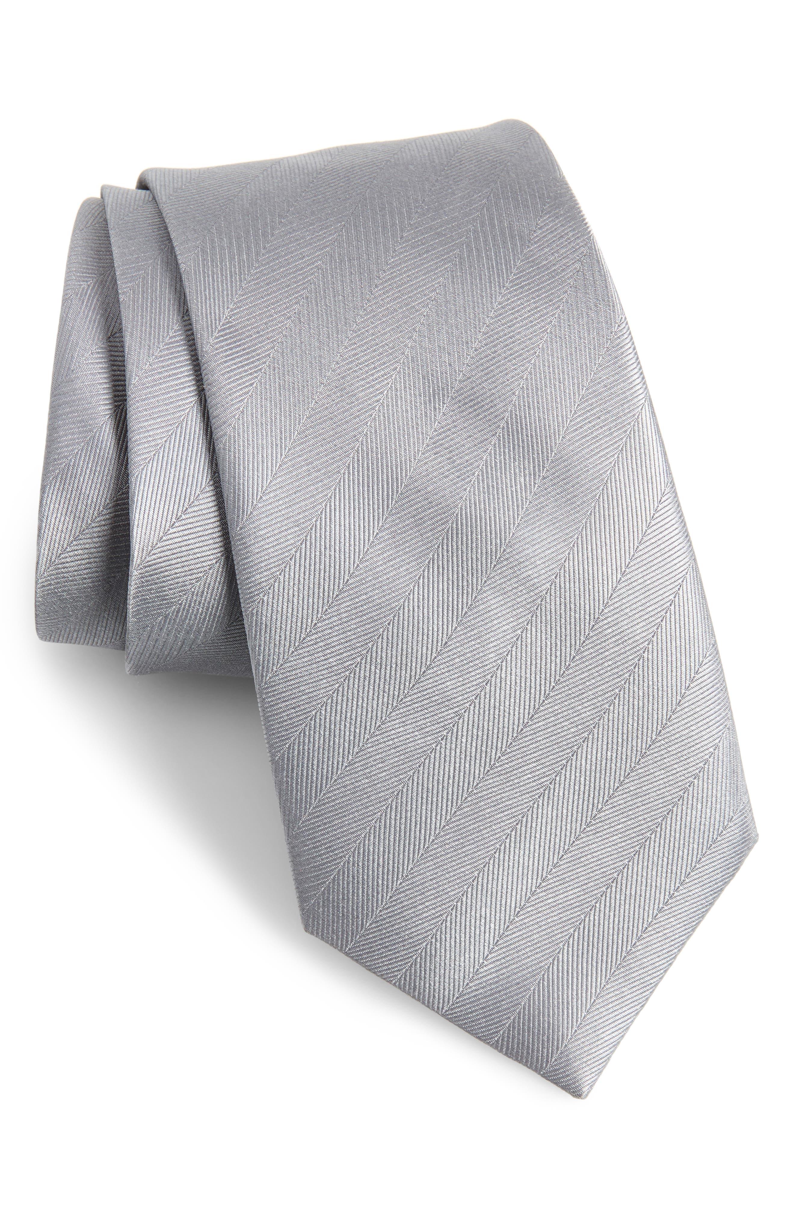 Herringbone Silk Tie,                         Main,                         color,