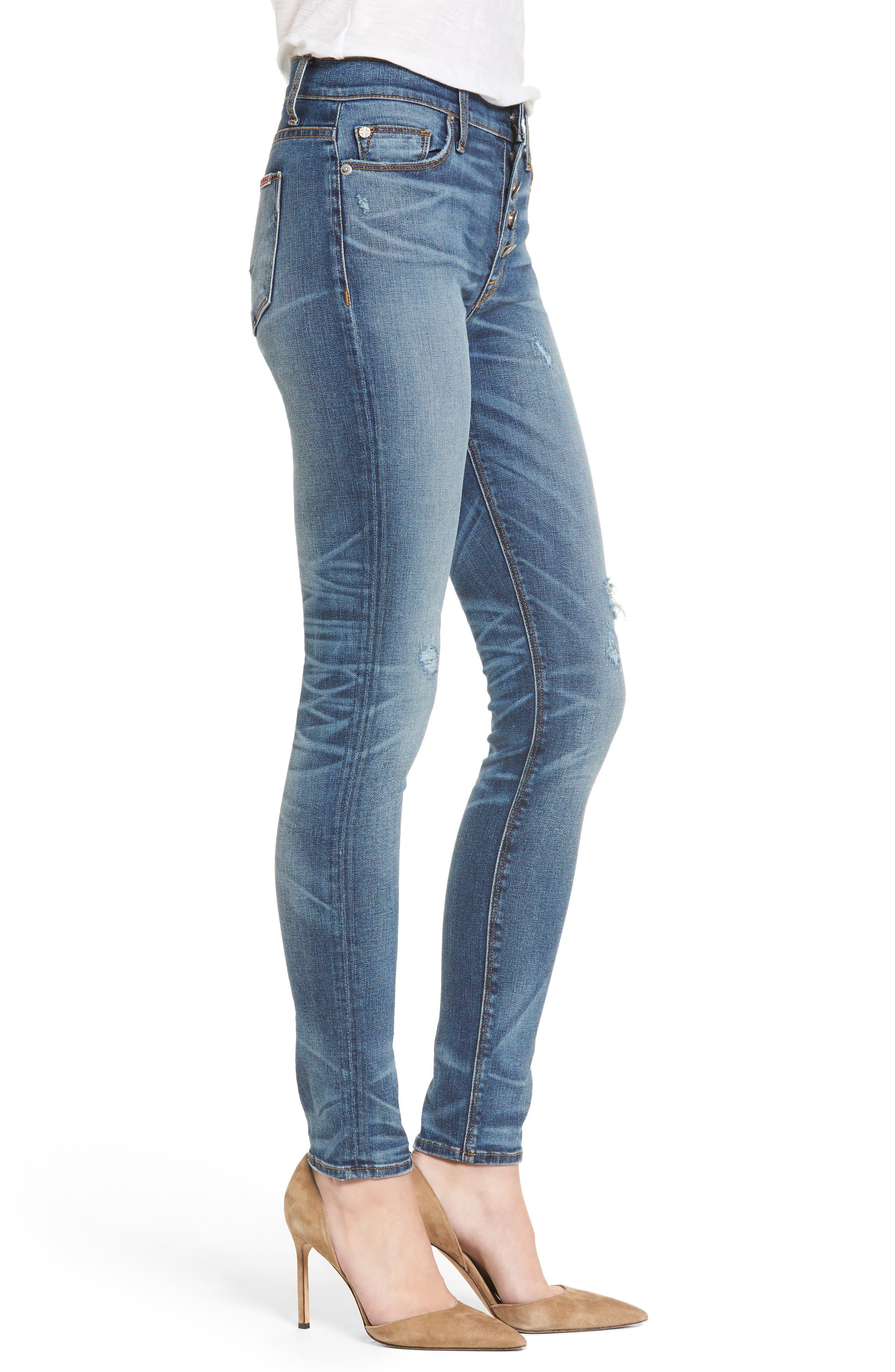 Ciara High Waist Skinny Jeans,                             Alternate thumbnail 5, color,