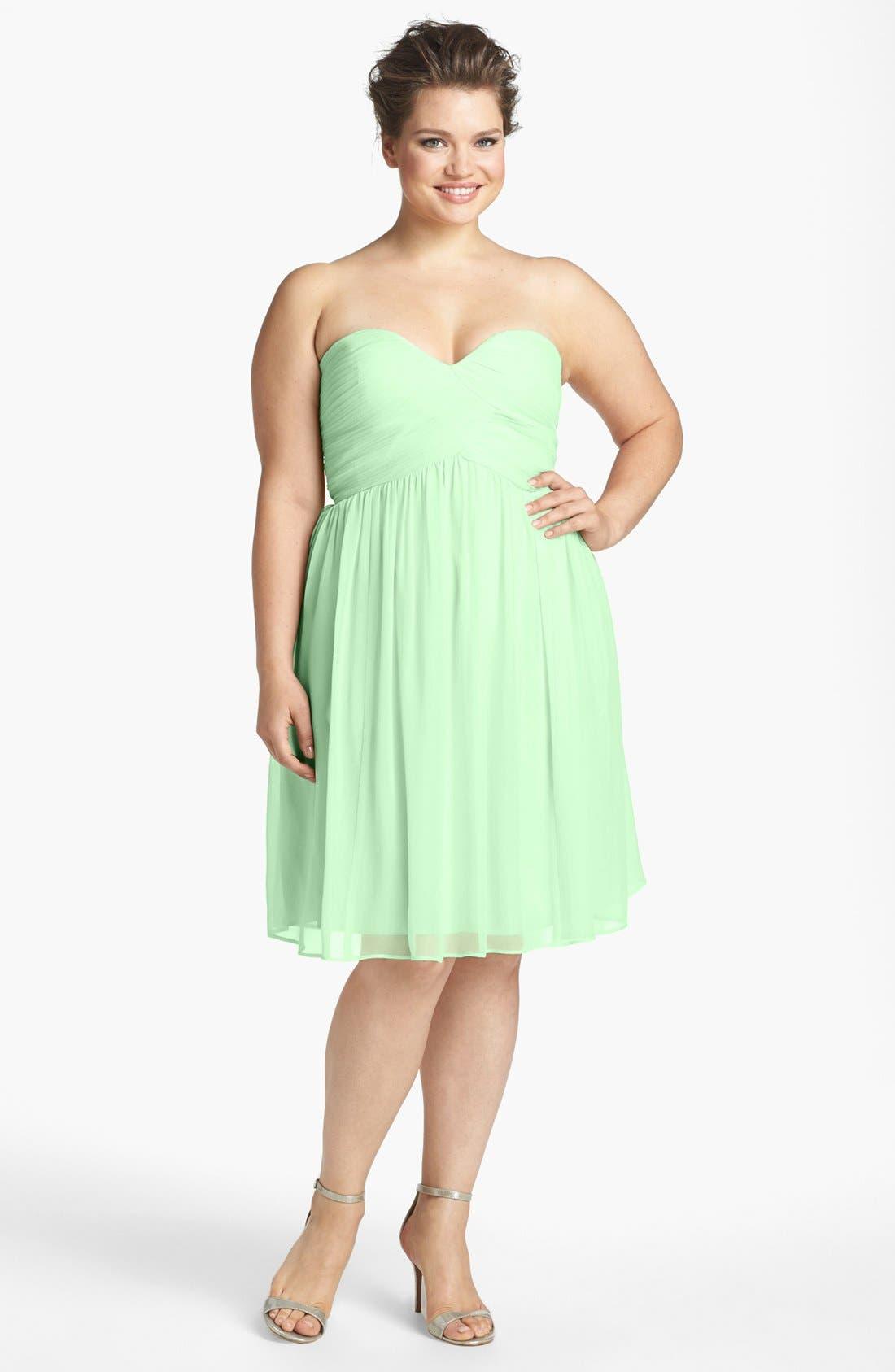 'Morgan' Strapless Silk Chiffon Dress,                             Alternate thumbnail 107, color,