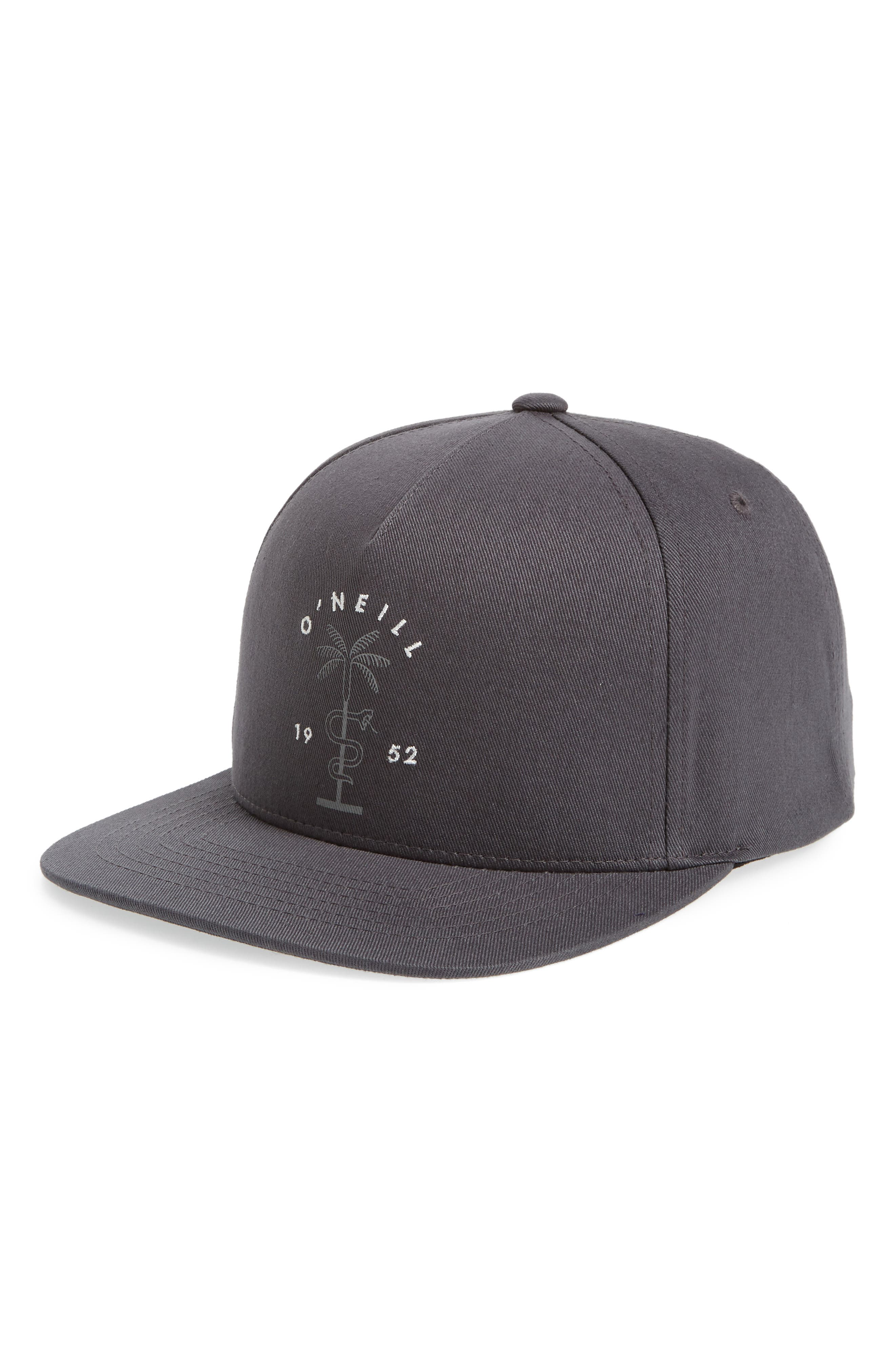 Rhythm Embroidered Cap,                         Main,                         color, ASPHALT
