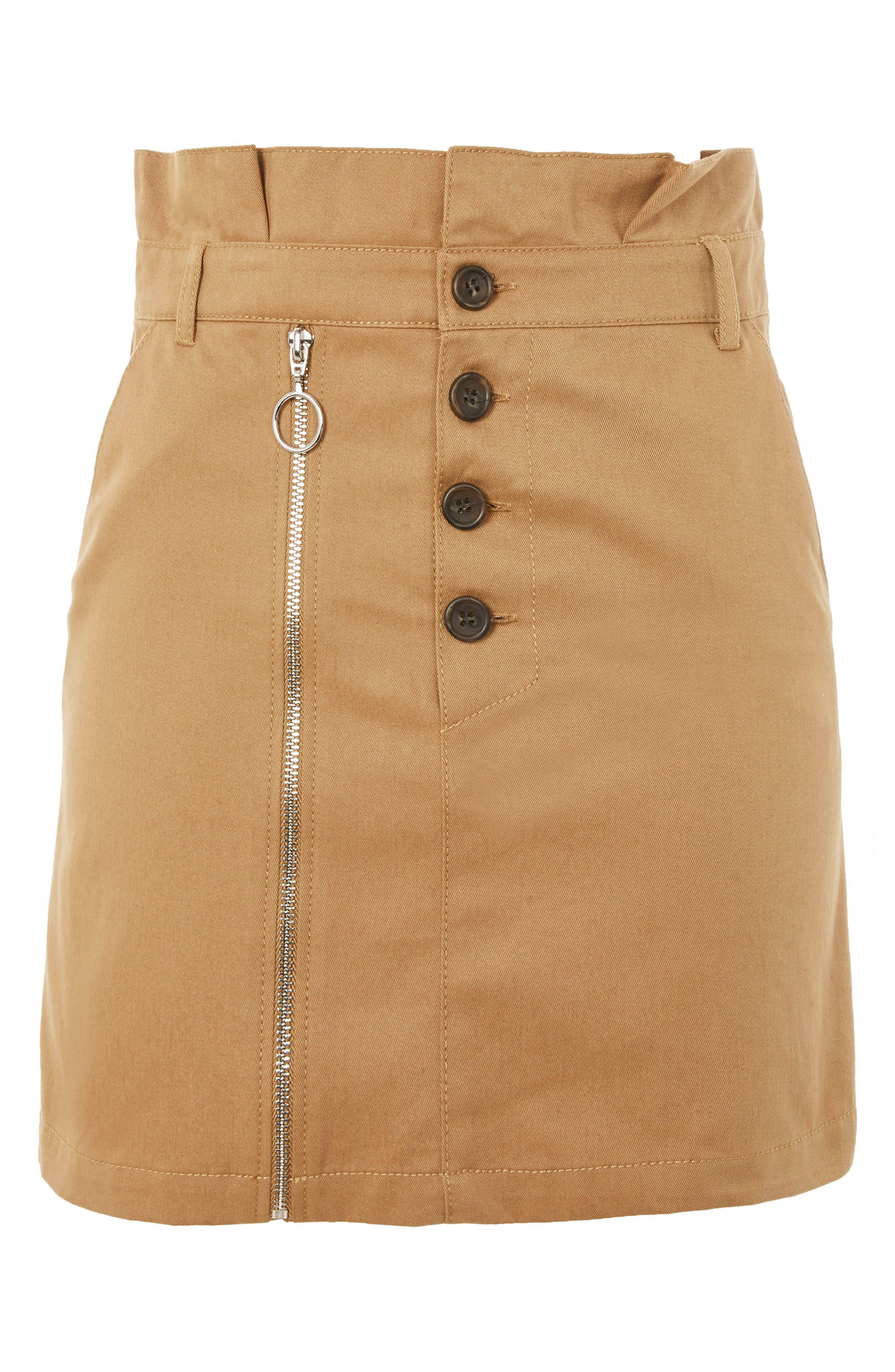 Utility Button Miniskirt,                             Alternate thumbnail 3, color,                             252