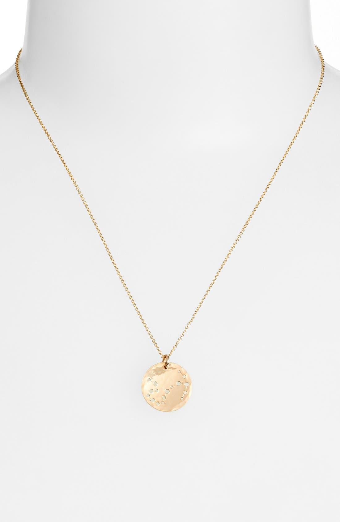 Ija 'Small Zodiac' 14k-Gold Fill Necklace,                             Alternate thumbnail 20, color,