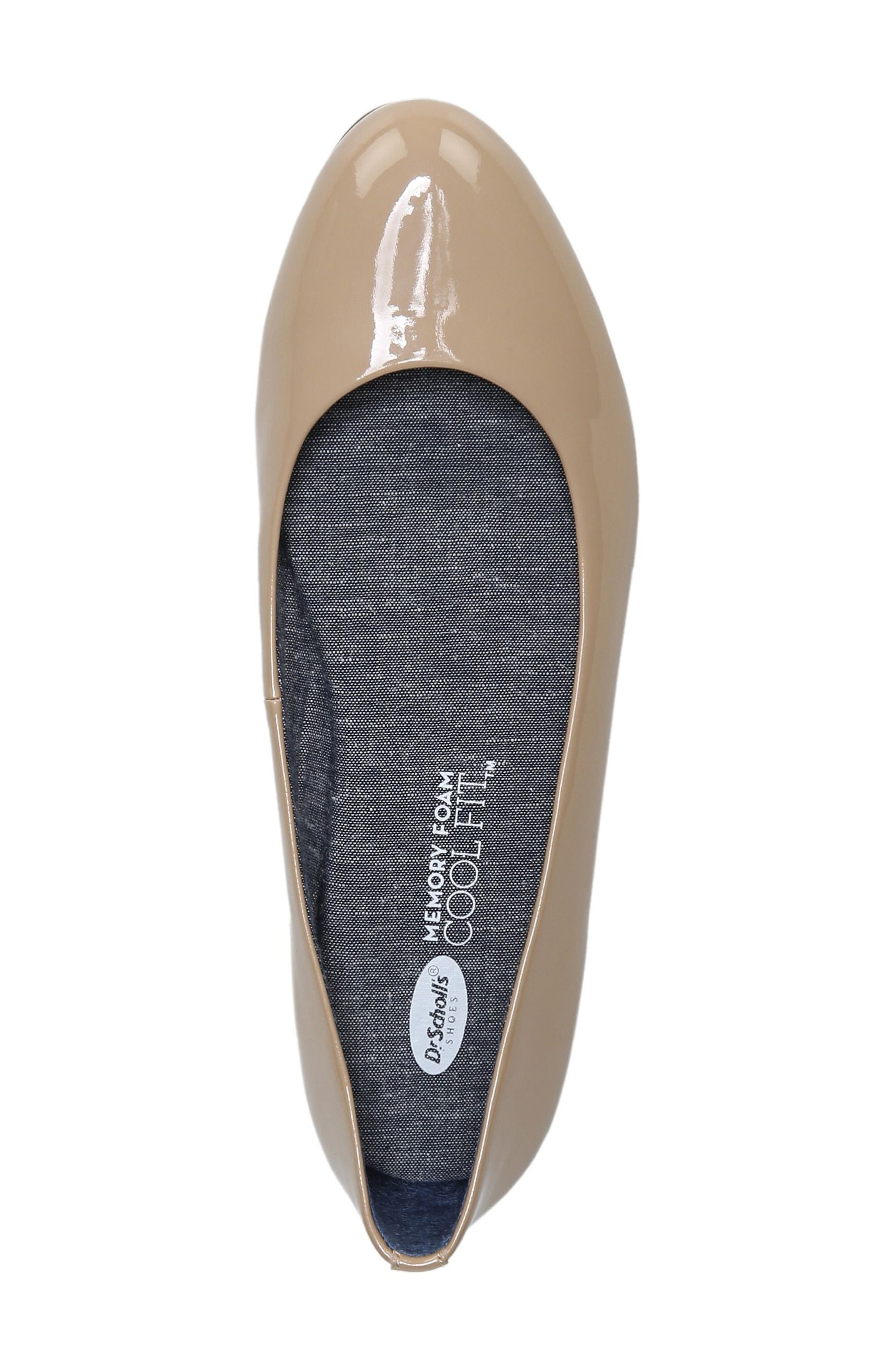 Giorgie Flat,                             Alternate thumbnail 4, color,                             SAND FAUX LEATHER