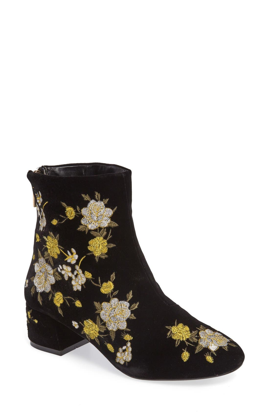 Blossom Embroidered Bootie,                             Main thumbnail 2, color,