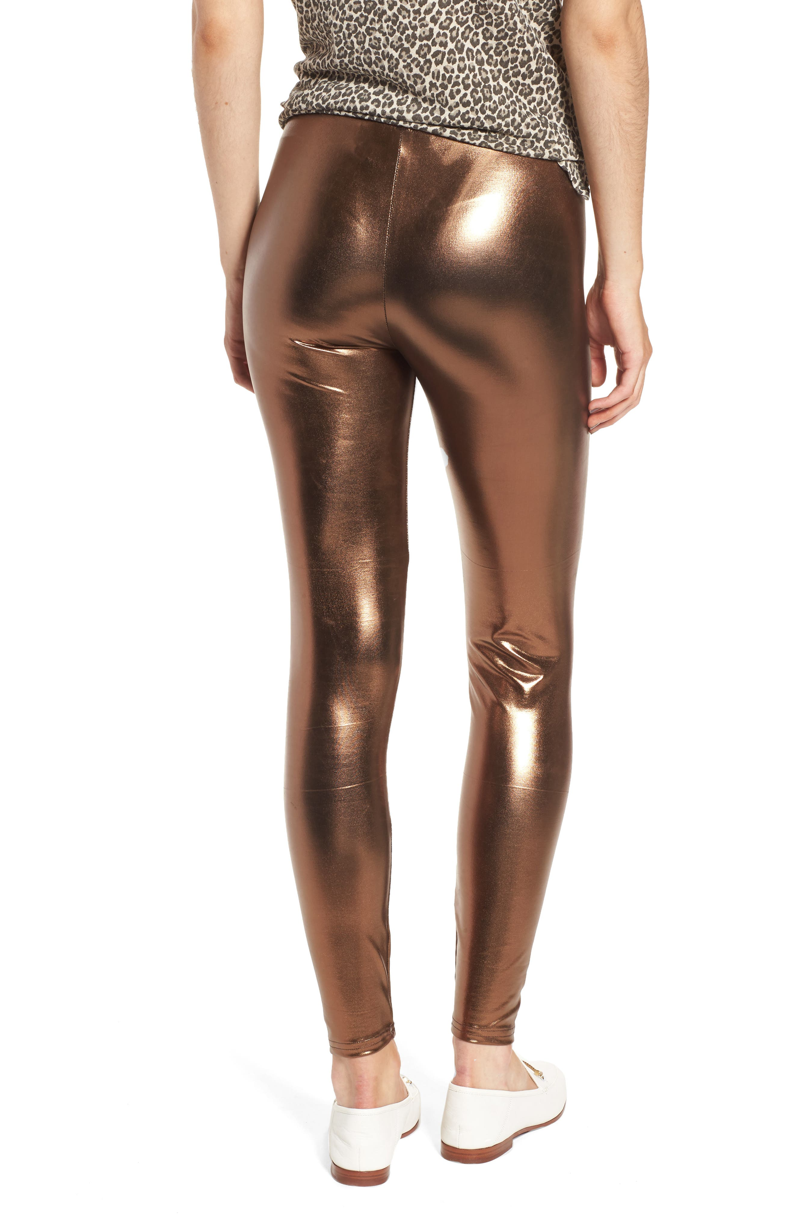 Metallic Leggings,                             Alternate thumbnail 2, color,                             220