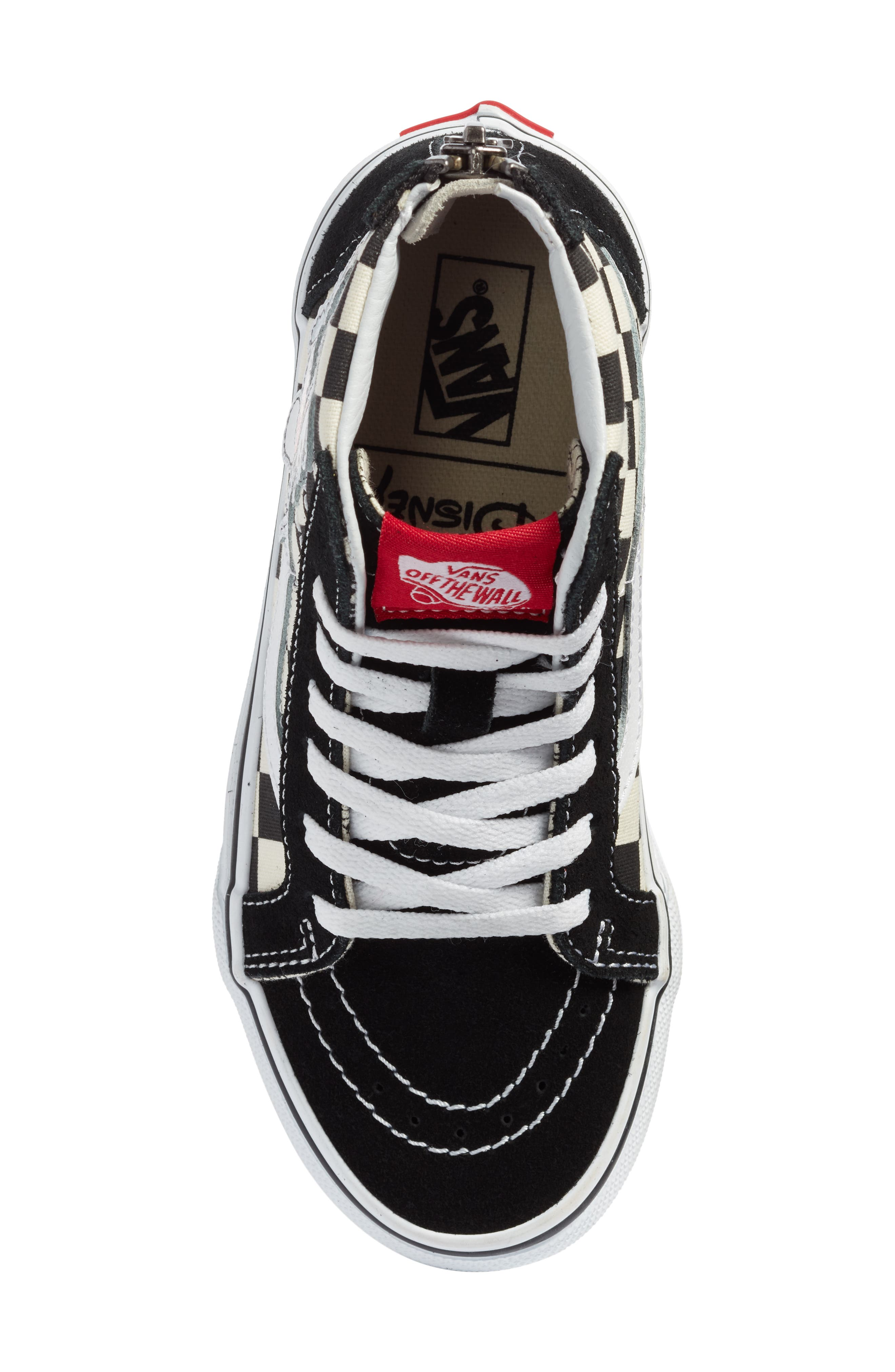 x Disney Mickey Mouse SK8-Hi Zip Sneaker,                             Alternate thumbnail 5, color,                             DISNEY MICKEY CHECKERBOARD