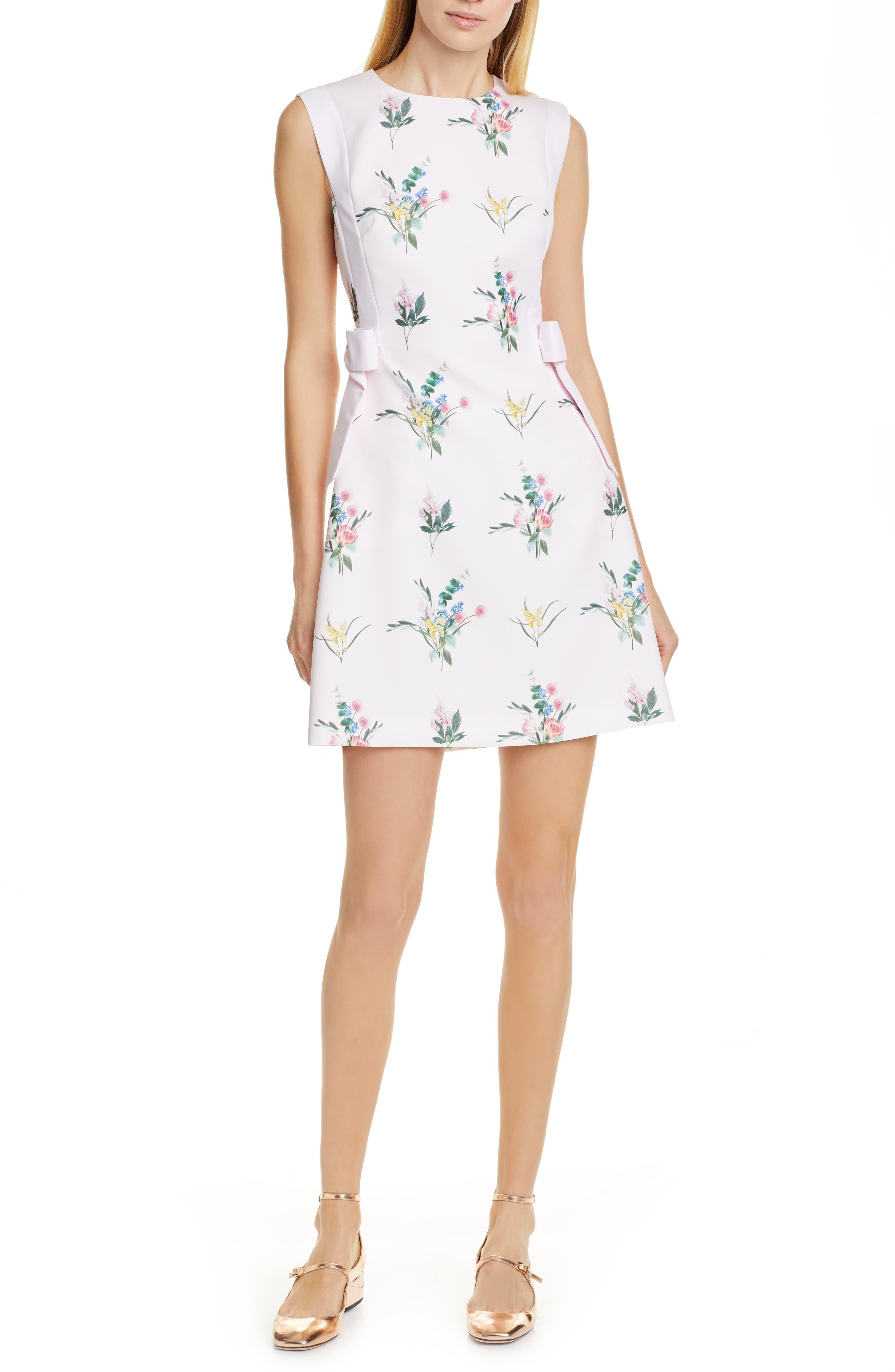 Ted Baker London Fleuray Flourish Minidress, Pink