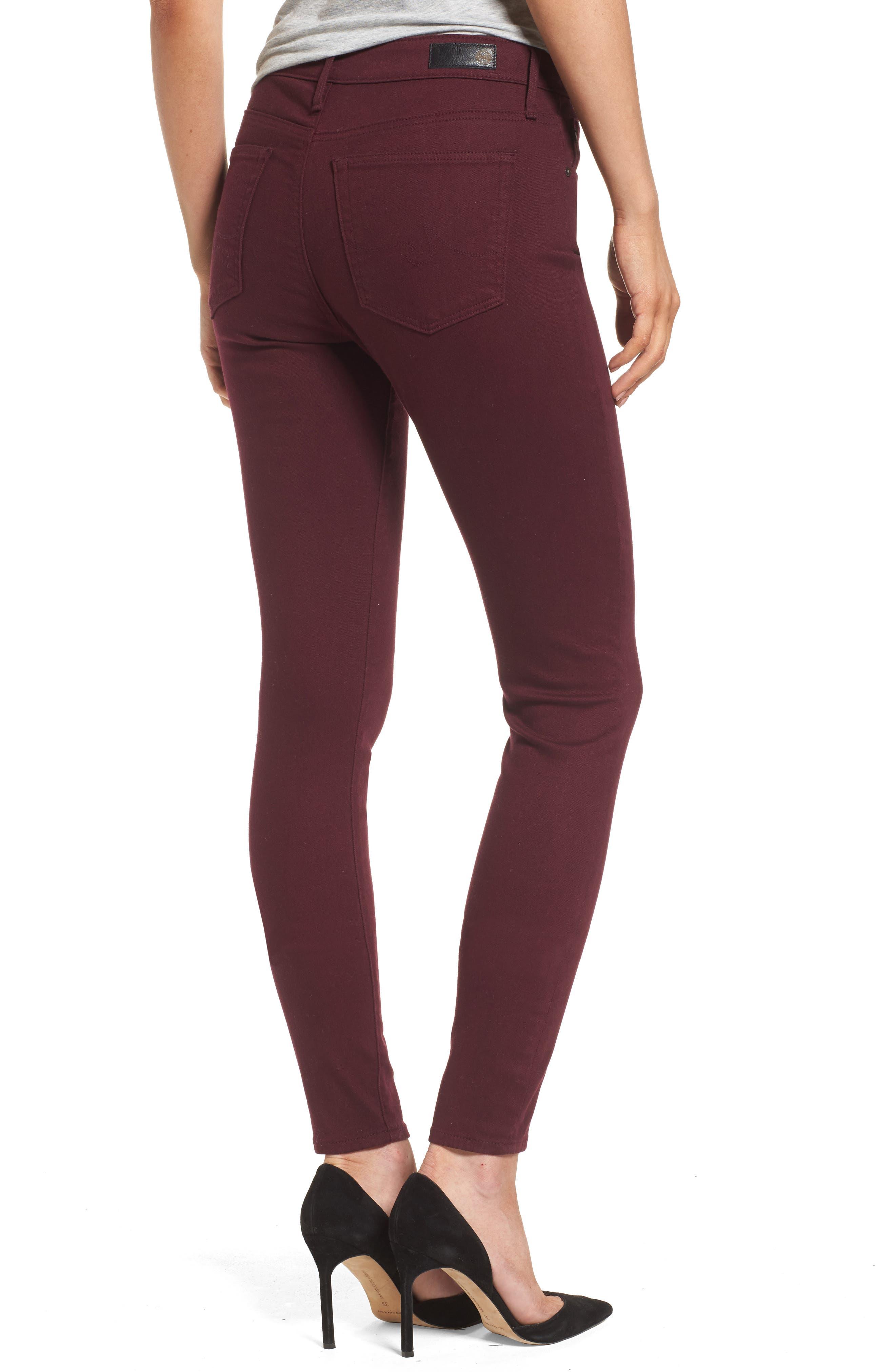 AG,                             Farrah High Waist Skinny Jeans,                             Alternate thumbnail 2, color,                             609