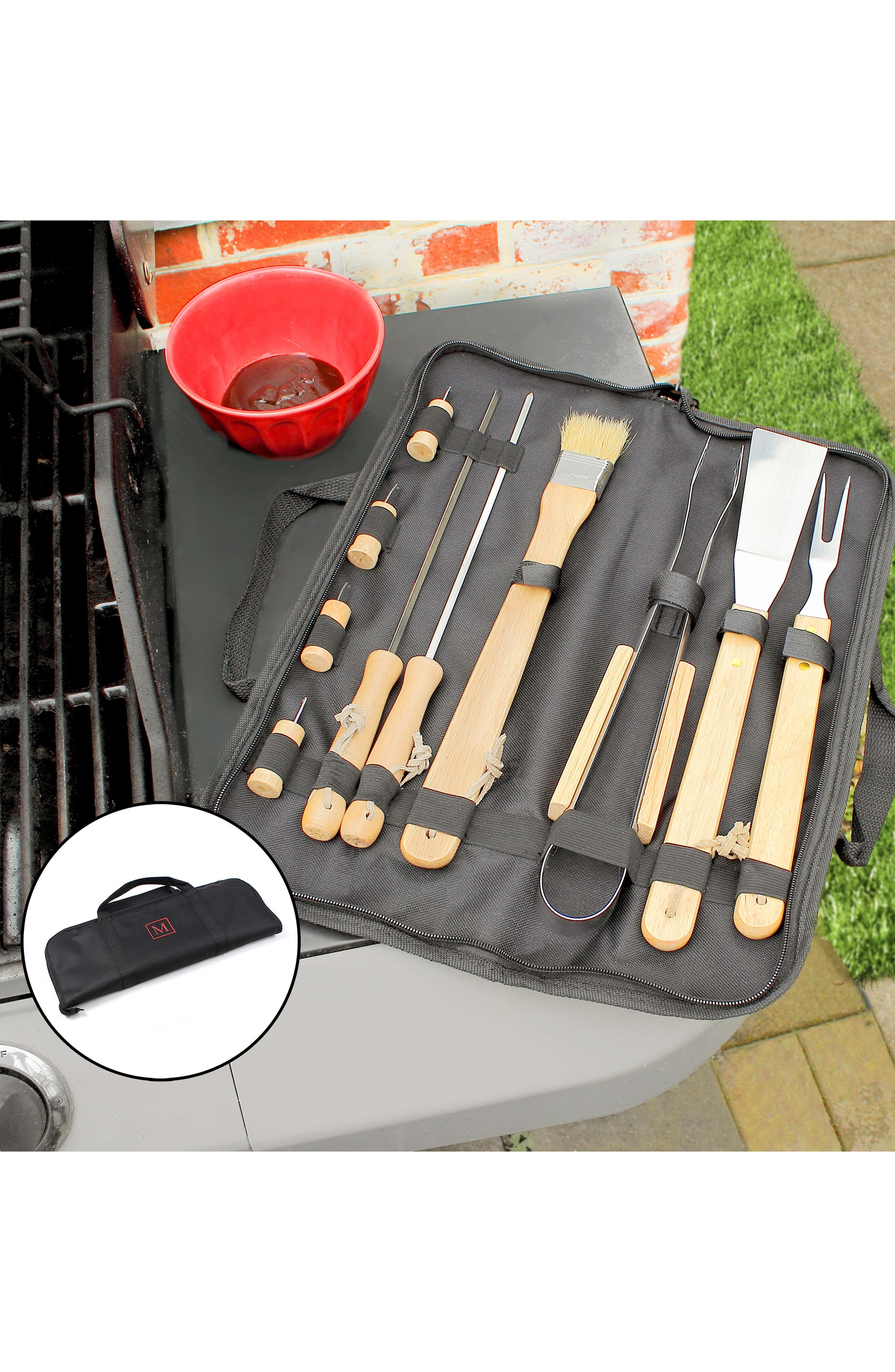 Monogram BBQ Grill Tools,                             Alternate thumbnail 4, color,                             M