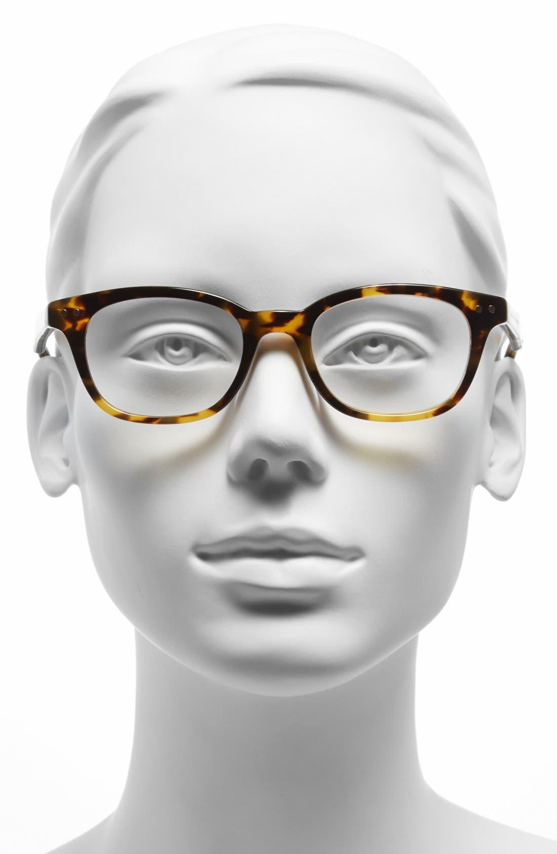 KATE SPADE NEW YORK,                             rebecca 49mm reading glasses,                             Alternate thumbnail 4, color,                             TOKYO TORTOISE