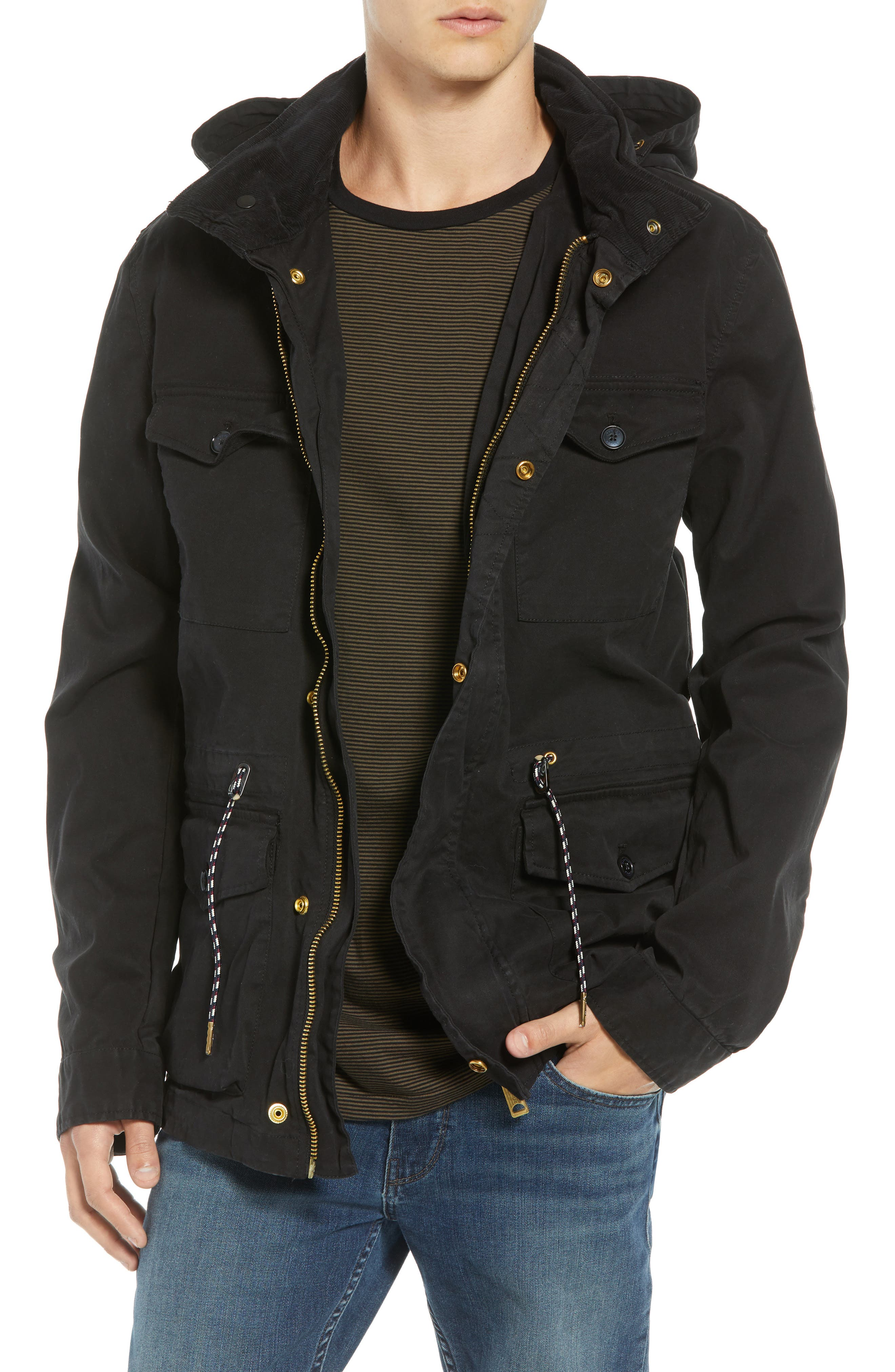 Garment Dyed Field Jacket,                             Main thumbnail 1, color,                             001