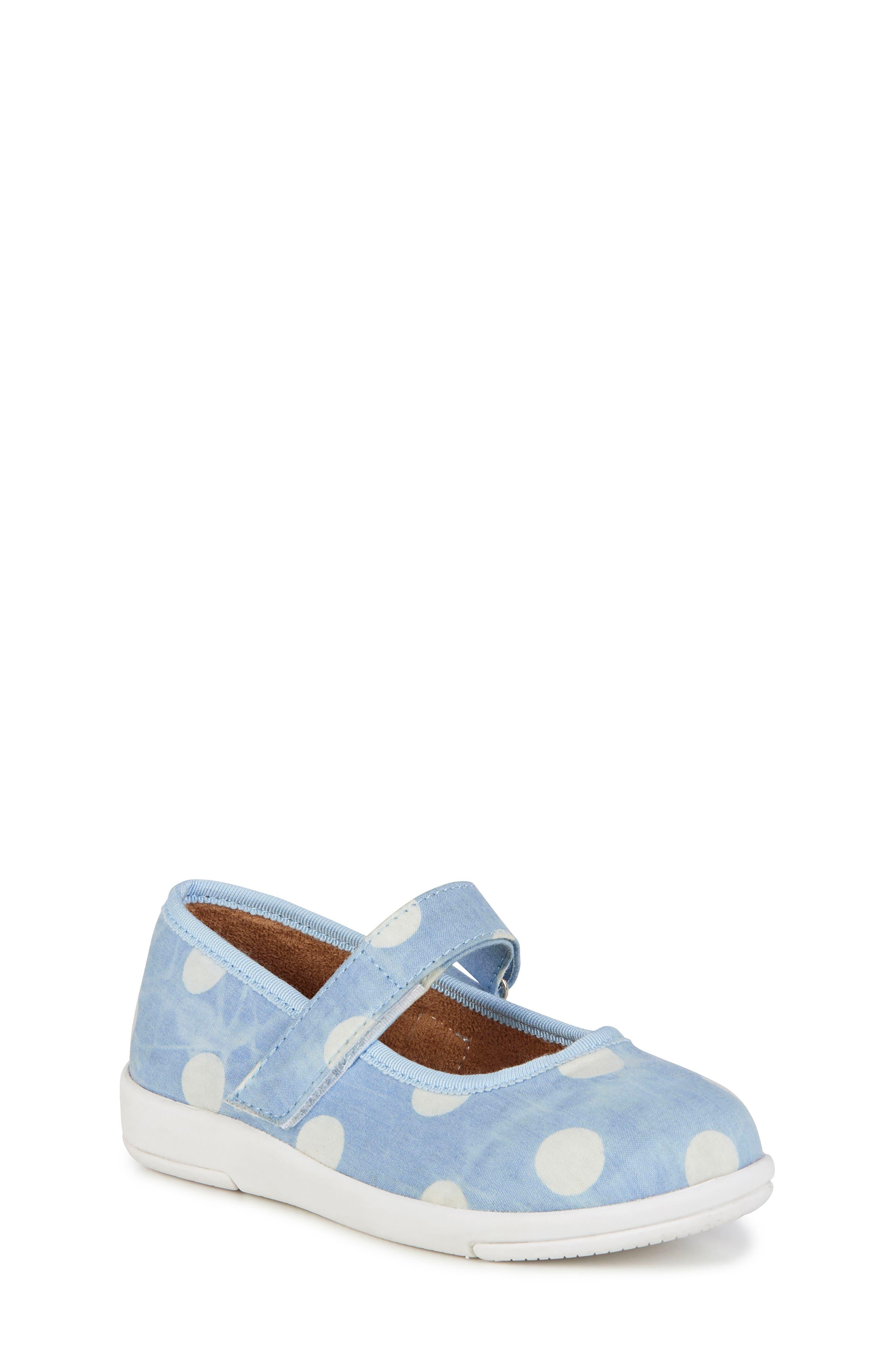 Deena Mary Jane Sneaker,                             Main thumbnail 1, color,                             SPOT LIGHT DENIM DISTRESS