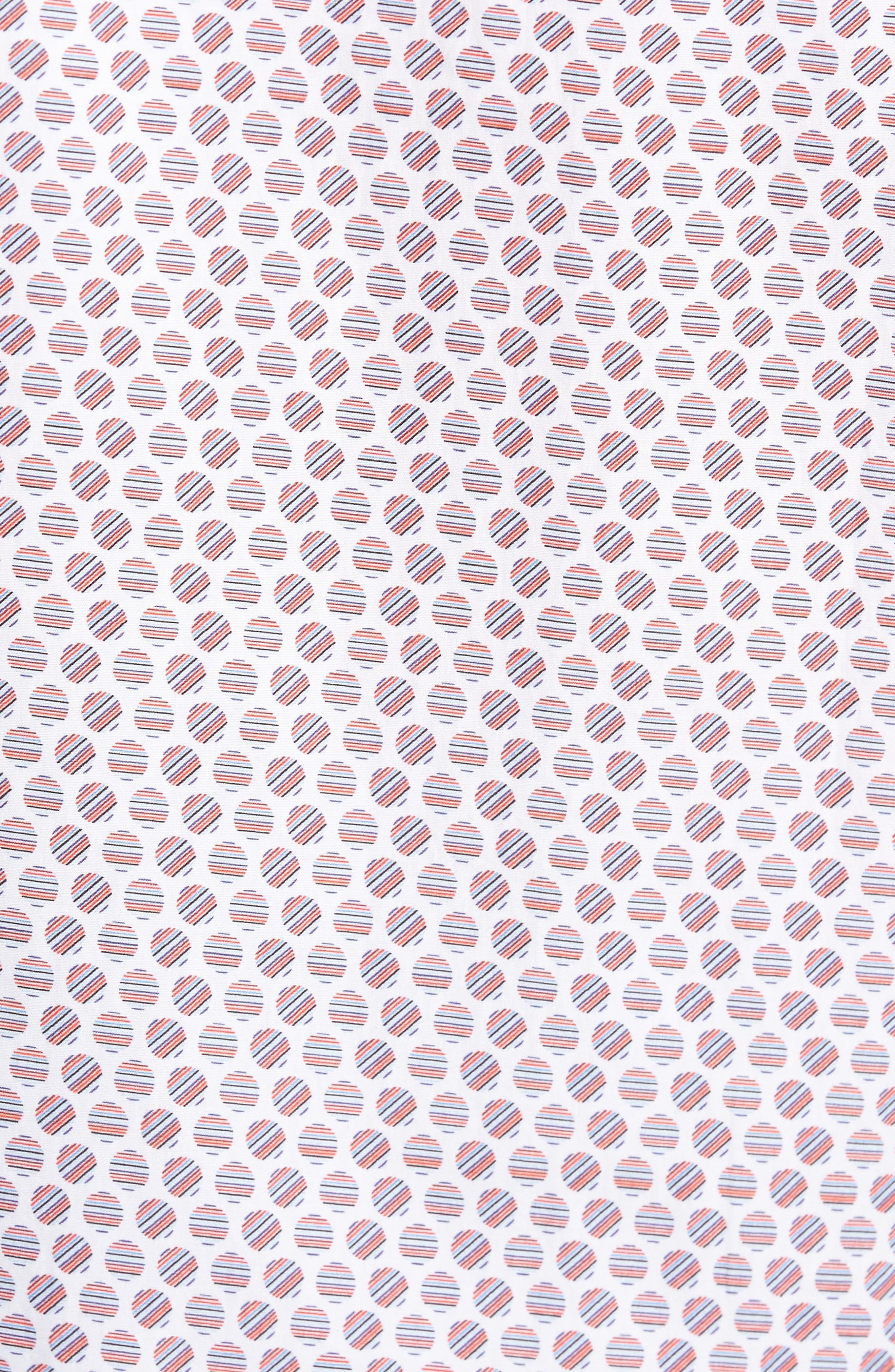 Slim Fit Circle Print Sport Shirt,                             Alternate thumbnail 5, color,