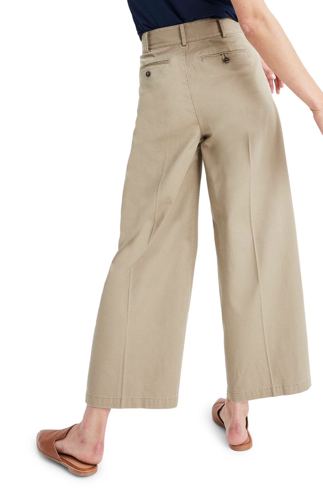 High Waist Crop Wide Leg Pants,                             Alternate thumbnail 2, color,                             250