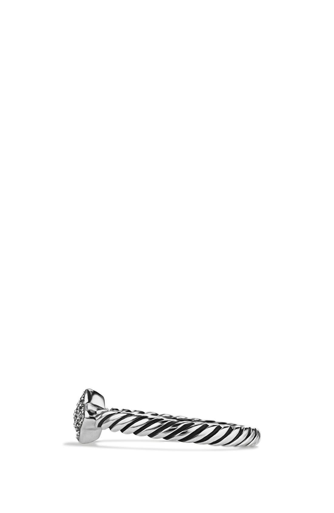 'Cable Collectibles - Quatrefoil' Ring with Diamonds,                             Alternate thumbnail 5, color,                             DIAMOND