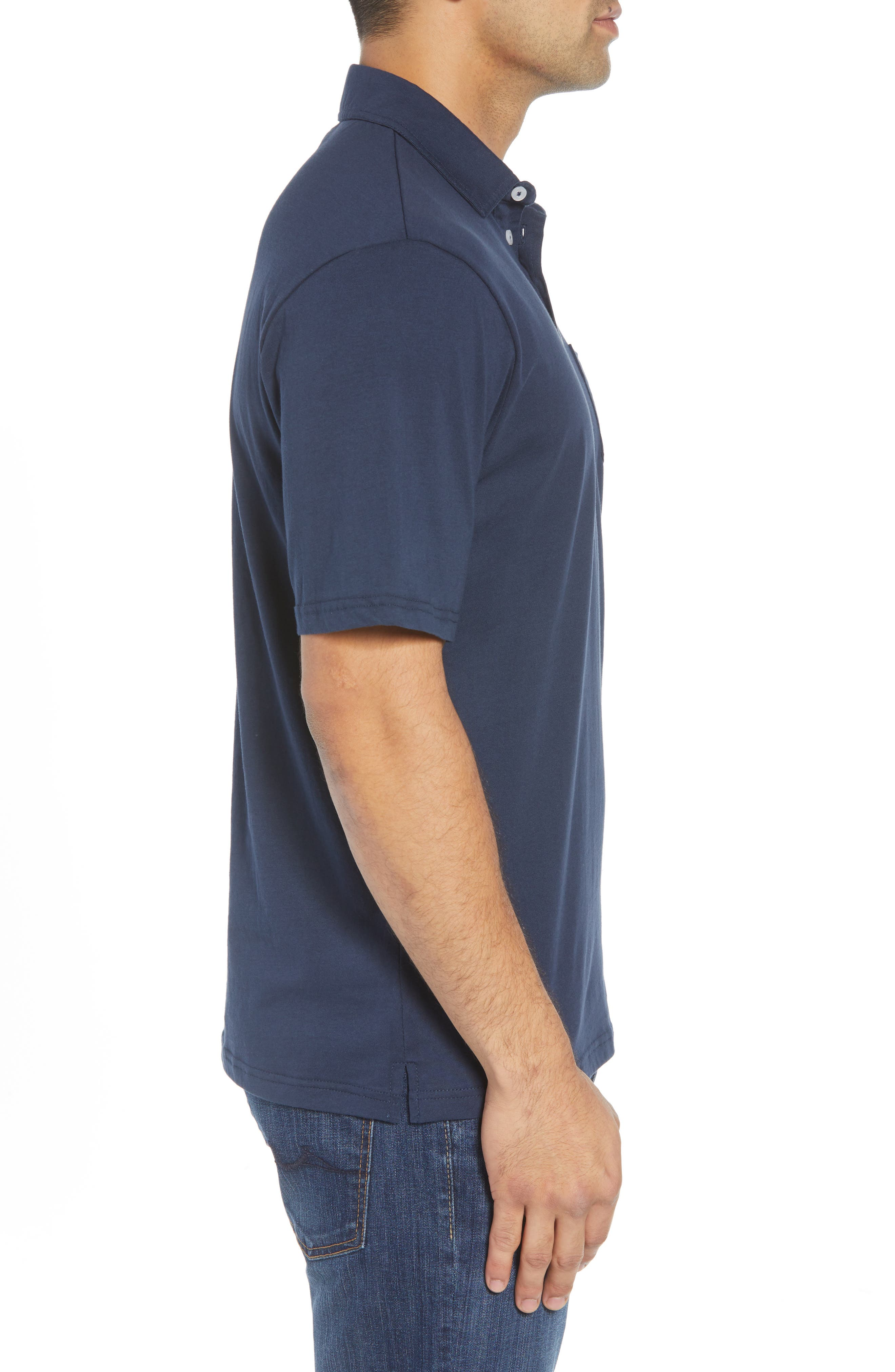 The Original Classic Fit Polo,                             Alternate thumbnail 3, color,                             NAVY
