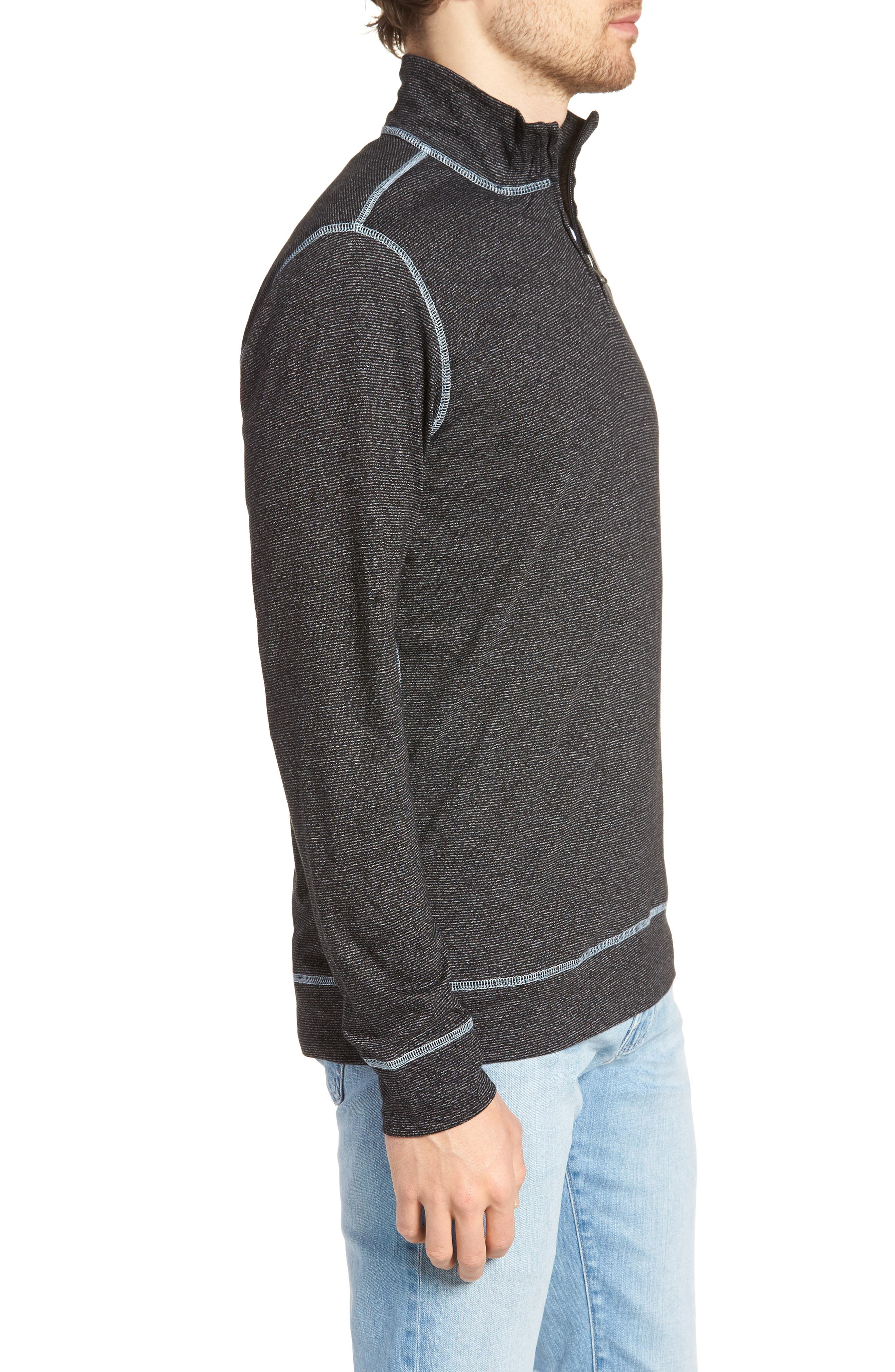 Regular Fit Quarter Zip Shirt,                             Alternate thumbnail 3, color,                             001
