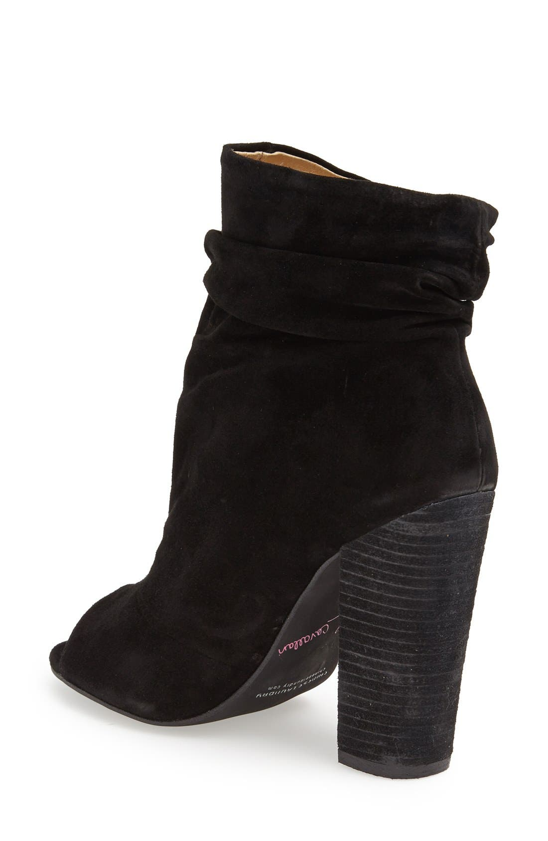 'Laurel' Peep Toe Bootie,                             Alternate thumbnail 8, color,