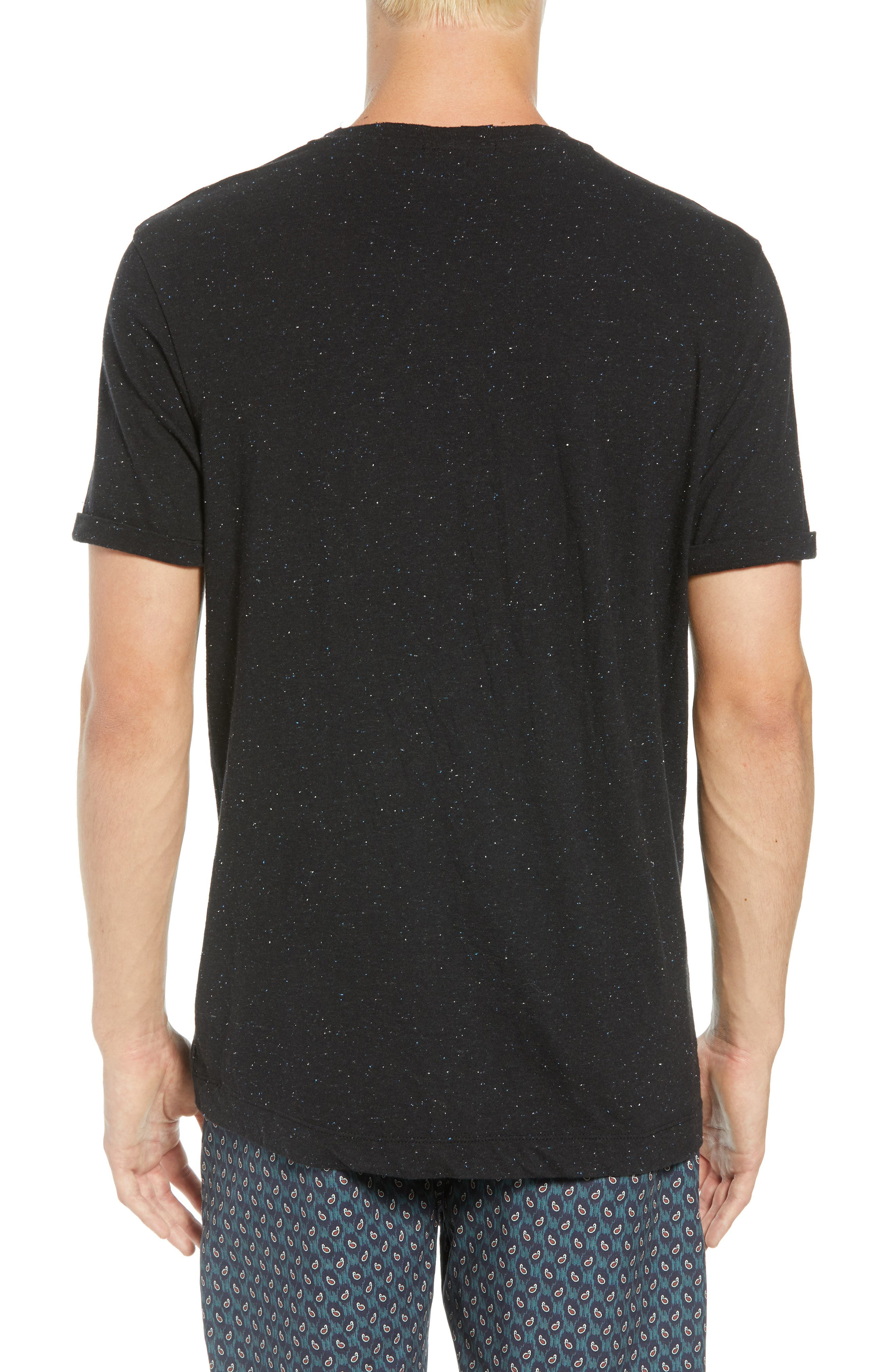 Nep Jersey Pocket T-Shirt,                             Alternate thumbnail 2, color,                             BLACK MELANGE