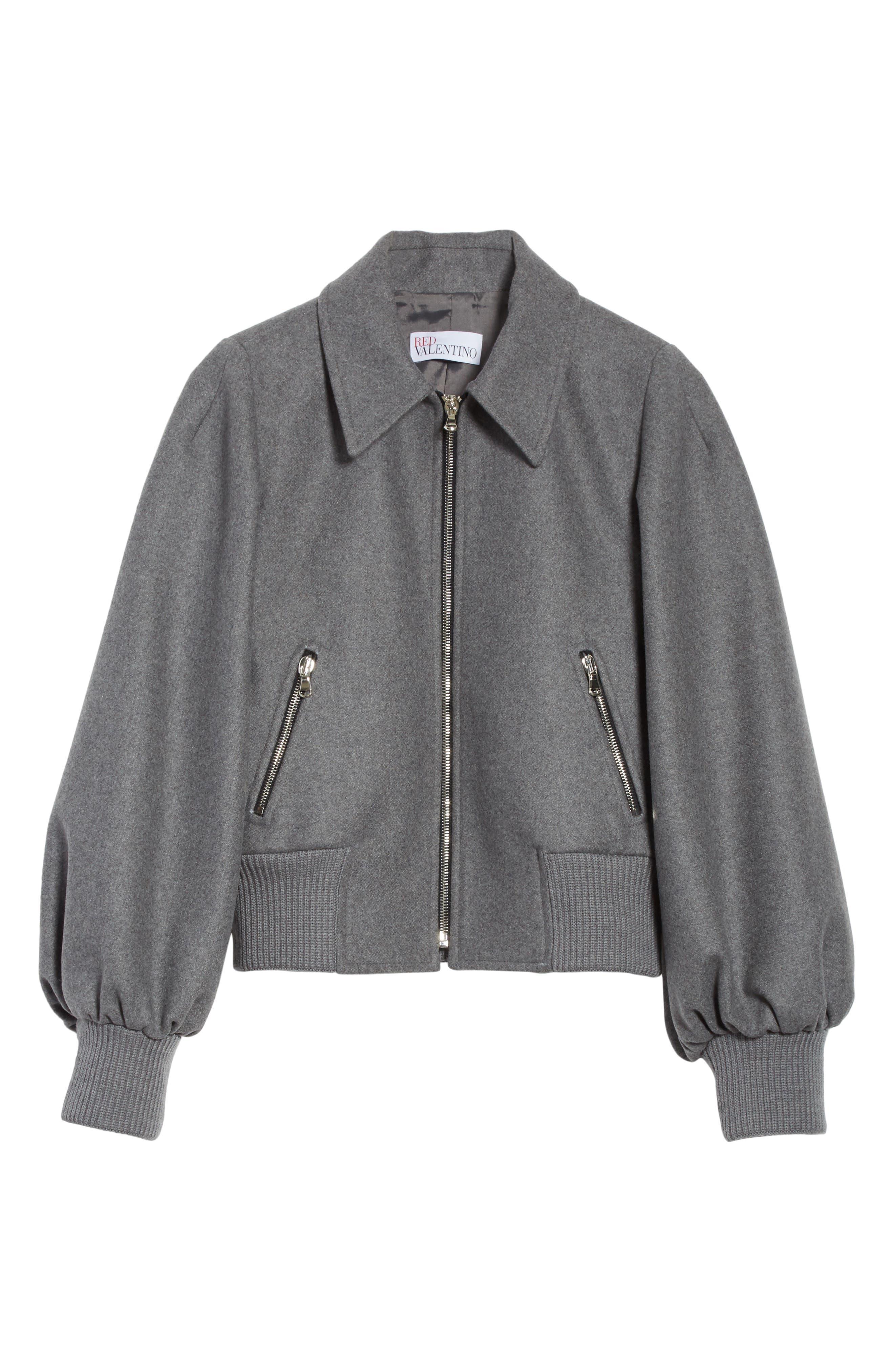 Mélange Wool Blend Jacket,                             Alternate thumbnail 5, color,                             026