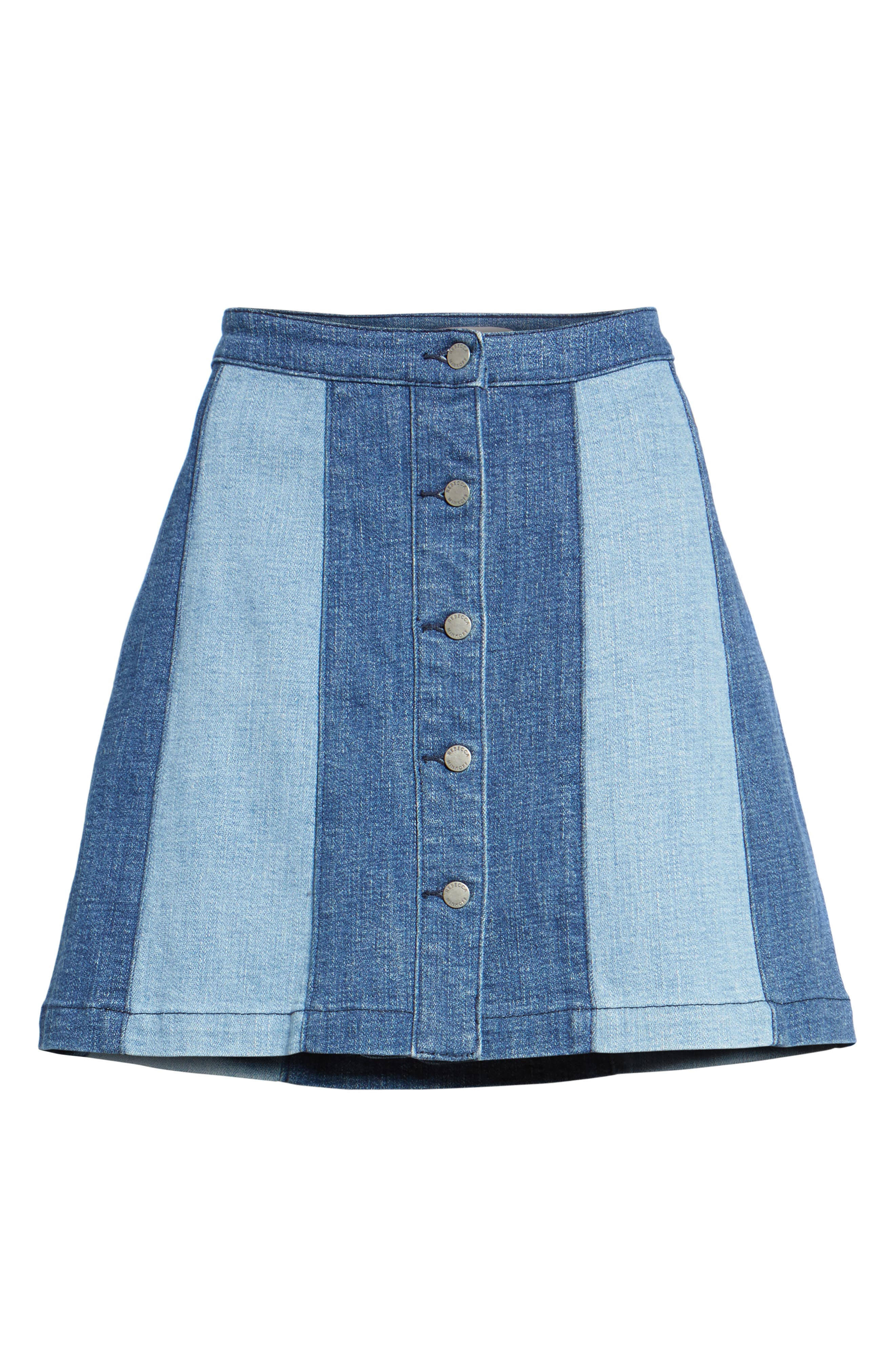 Beatty Denim Miniskirt,                             Alternate thumbnail 6, color,                             408