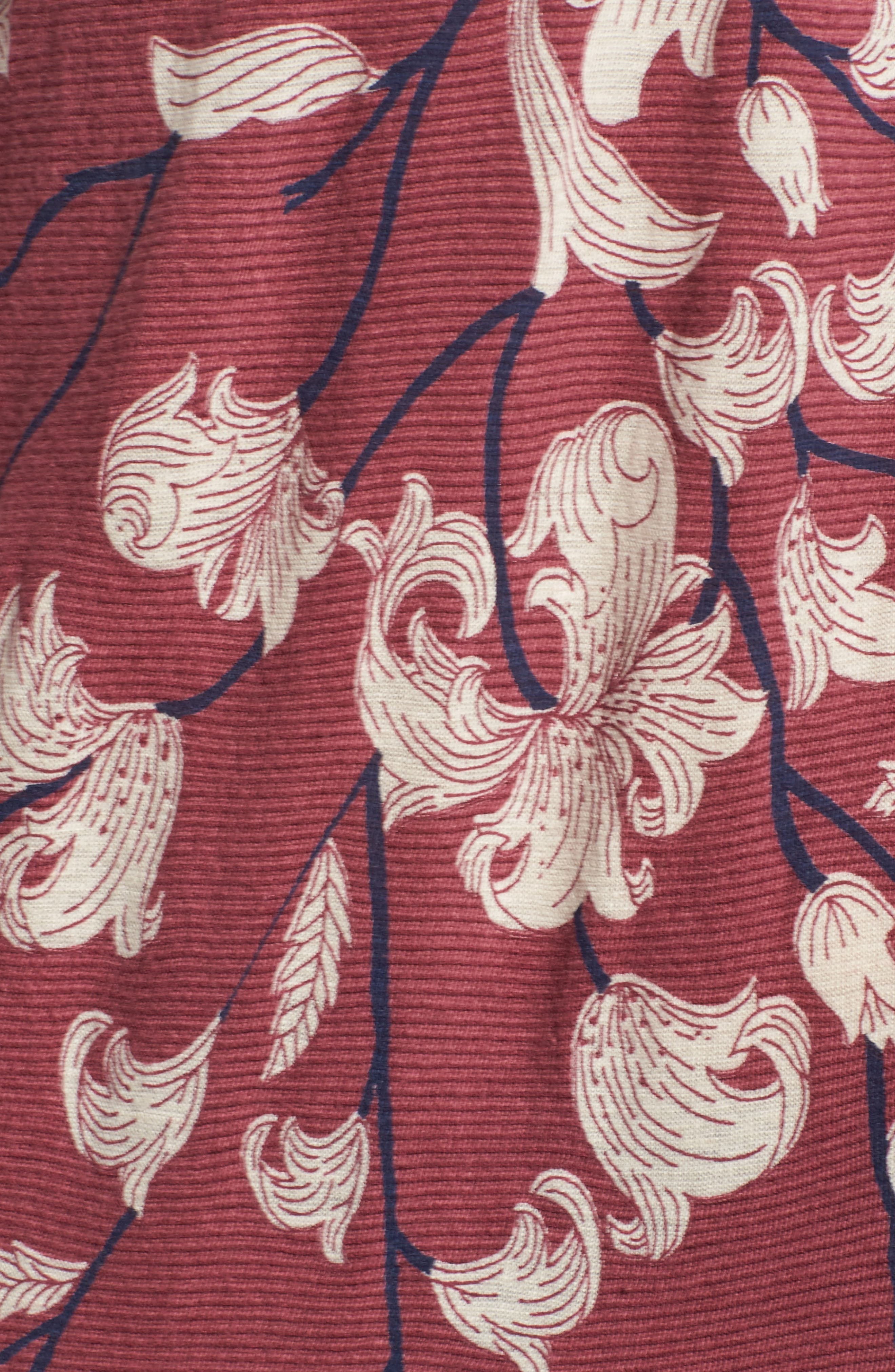 Lace Inset Print Top,                             Alternate thumbnail 5, color,                             660