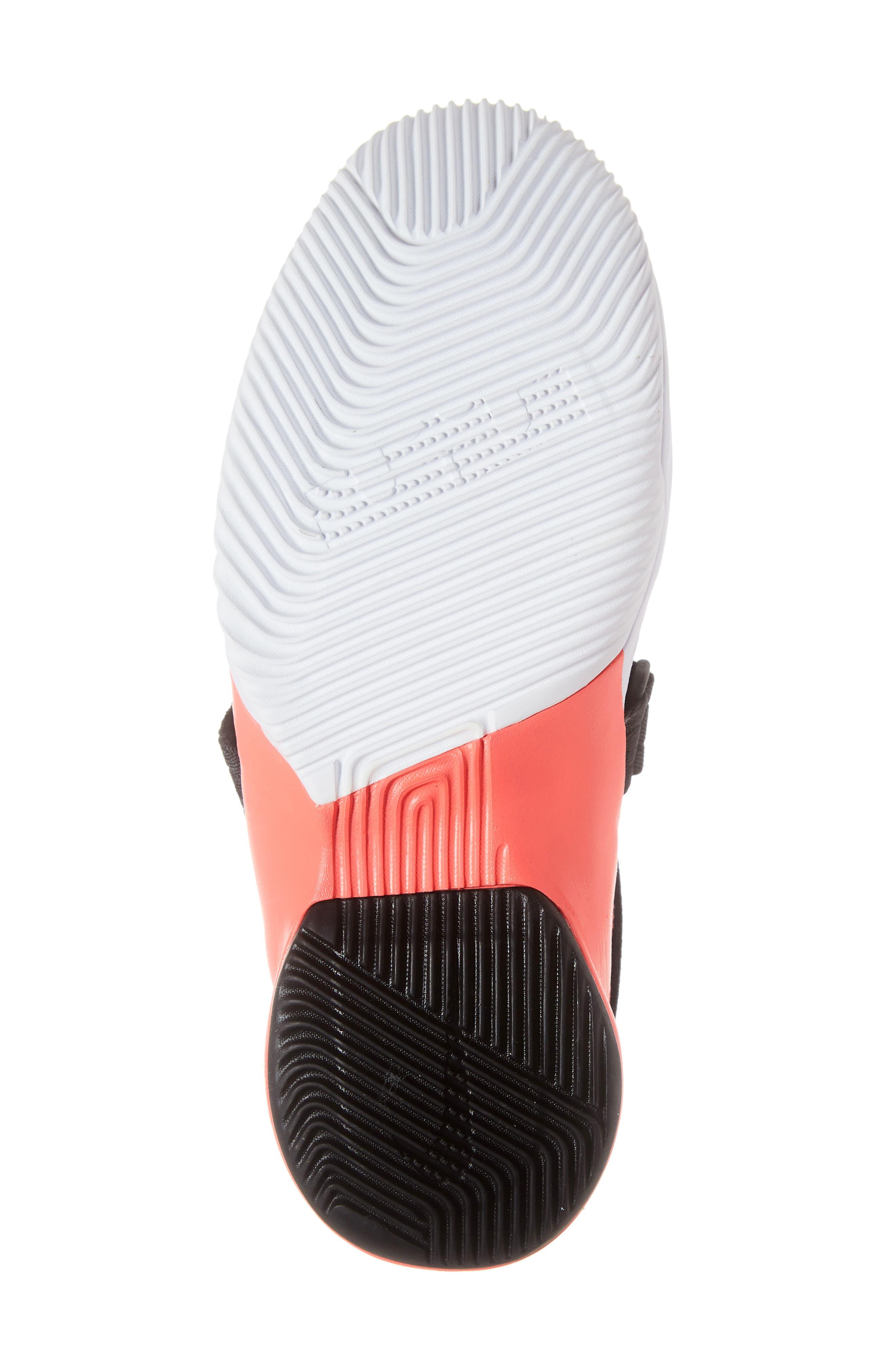 LeBron Soldier XII SFG Basketball Shoe,                             Alternate thumbnail 6, color,                             WHITE/ DARK GREY CRIMSON